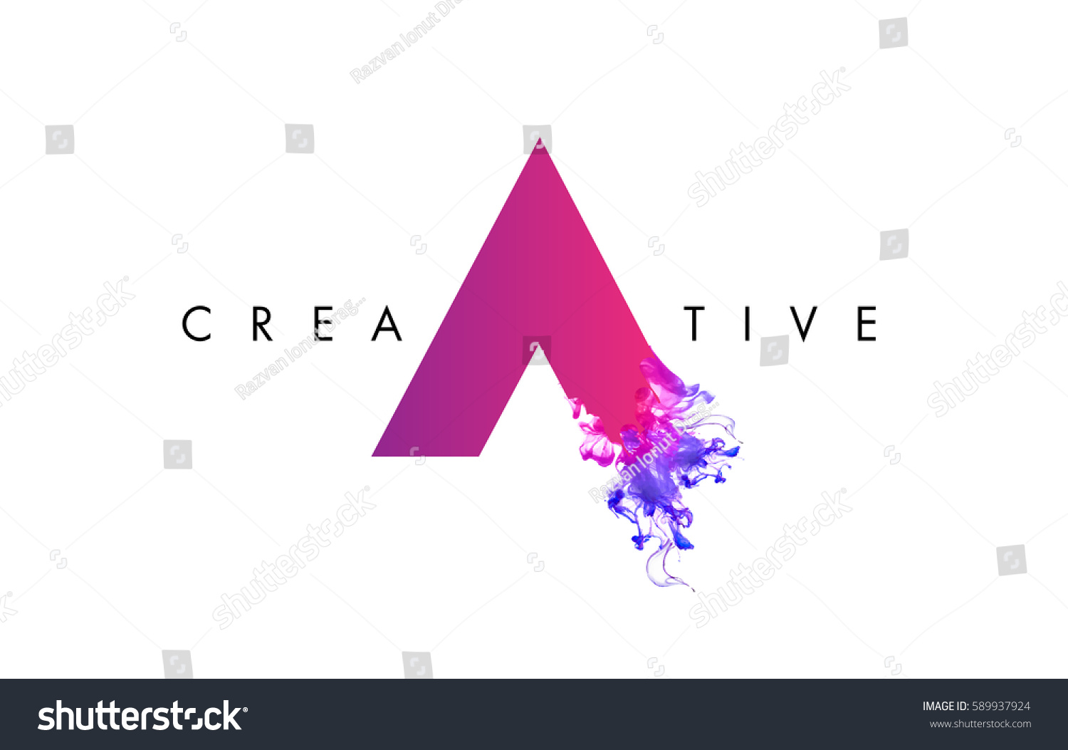 Letter Logo Design Ink Cloud Flowing Stock Vector (Royalty Free ...