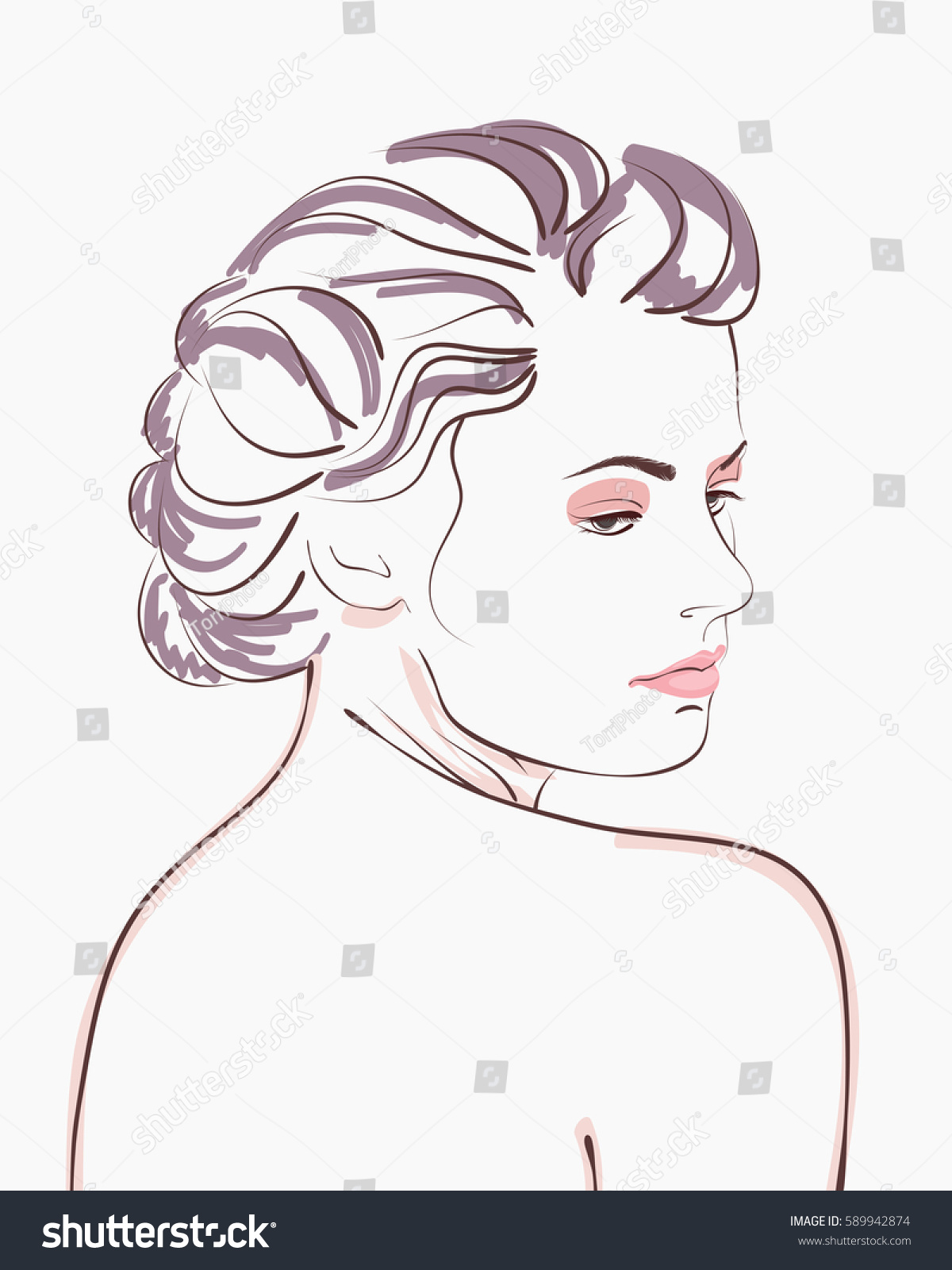 https://www.shutterstock.com/image-vector/vintage-style-woman-portrait-vector-illustration-589942874
