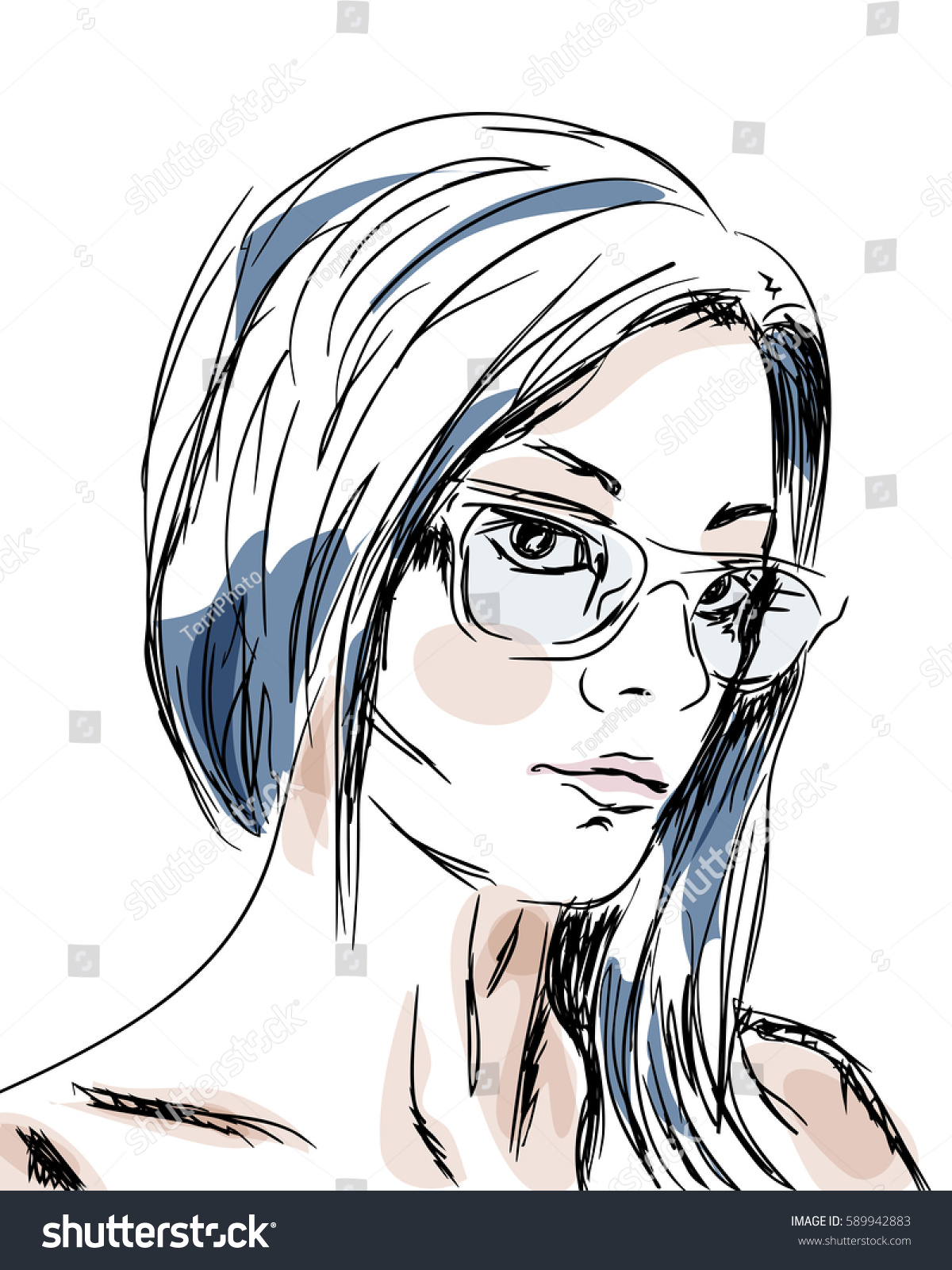 https://www.shutterstock.com/image-vector/hand-drawn-sketch-girl-portrait-vector-589942883