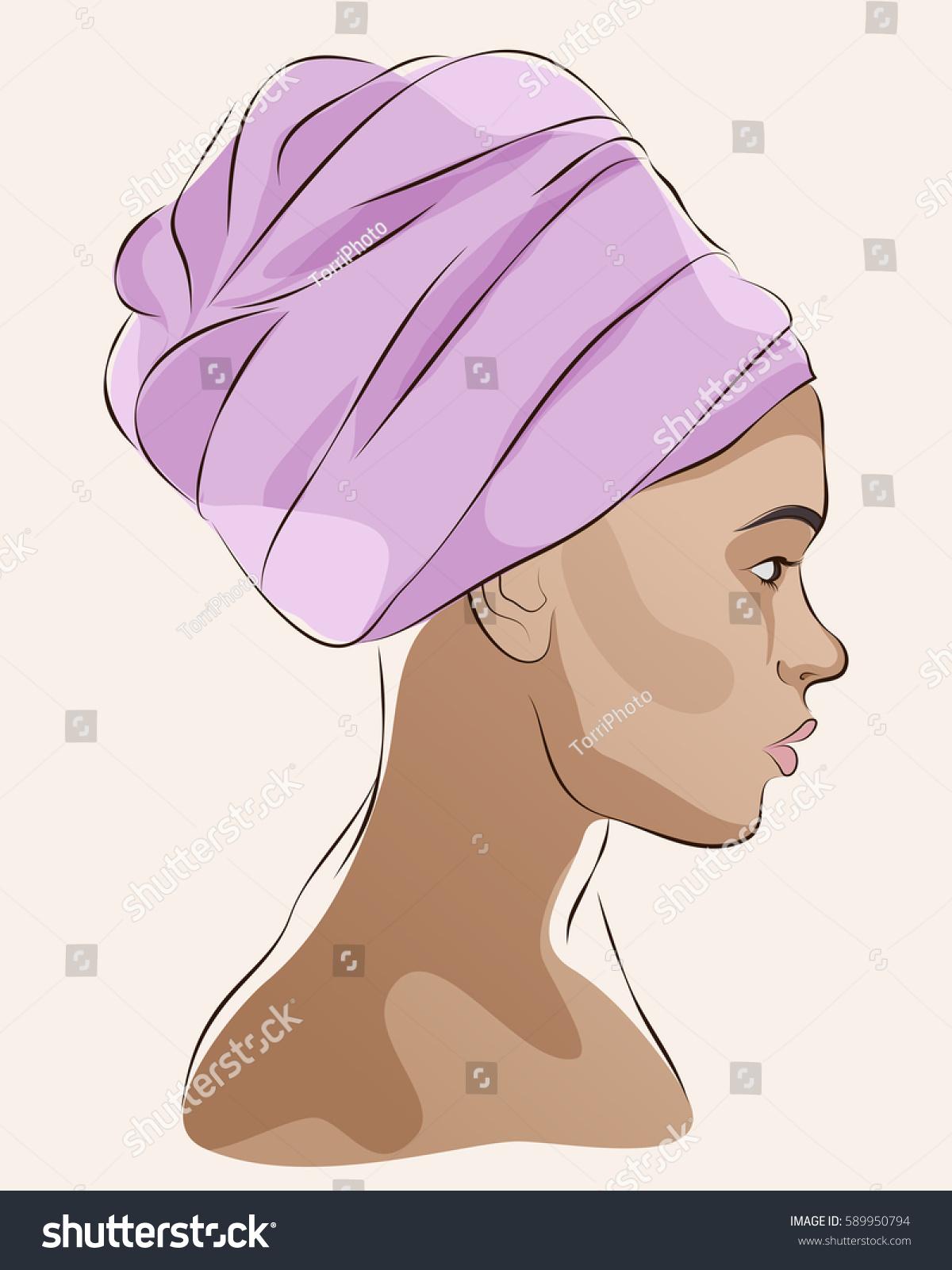 https://www.shutterstock.com/image-vector/profile-portrait-african-american-woman-turban-589950794