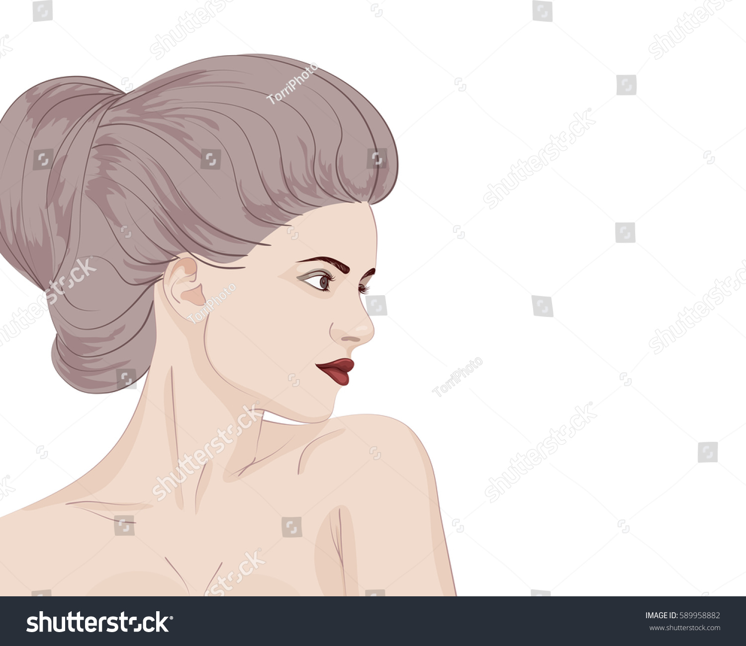 https://www.shutterstock.com/image-vector/beautiful-portrait-sensual-young-woman-bun-589958882