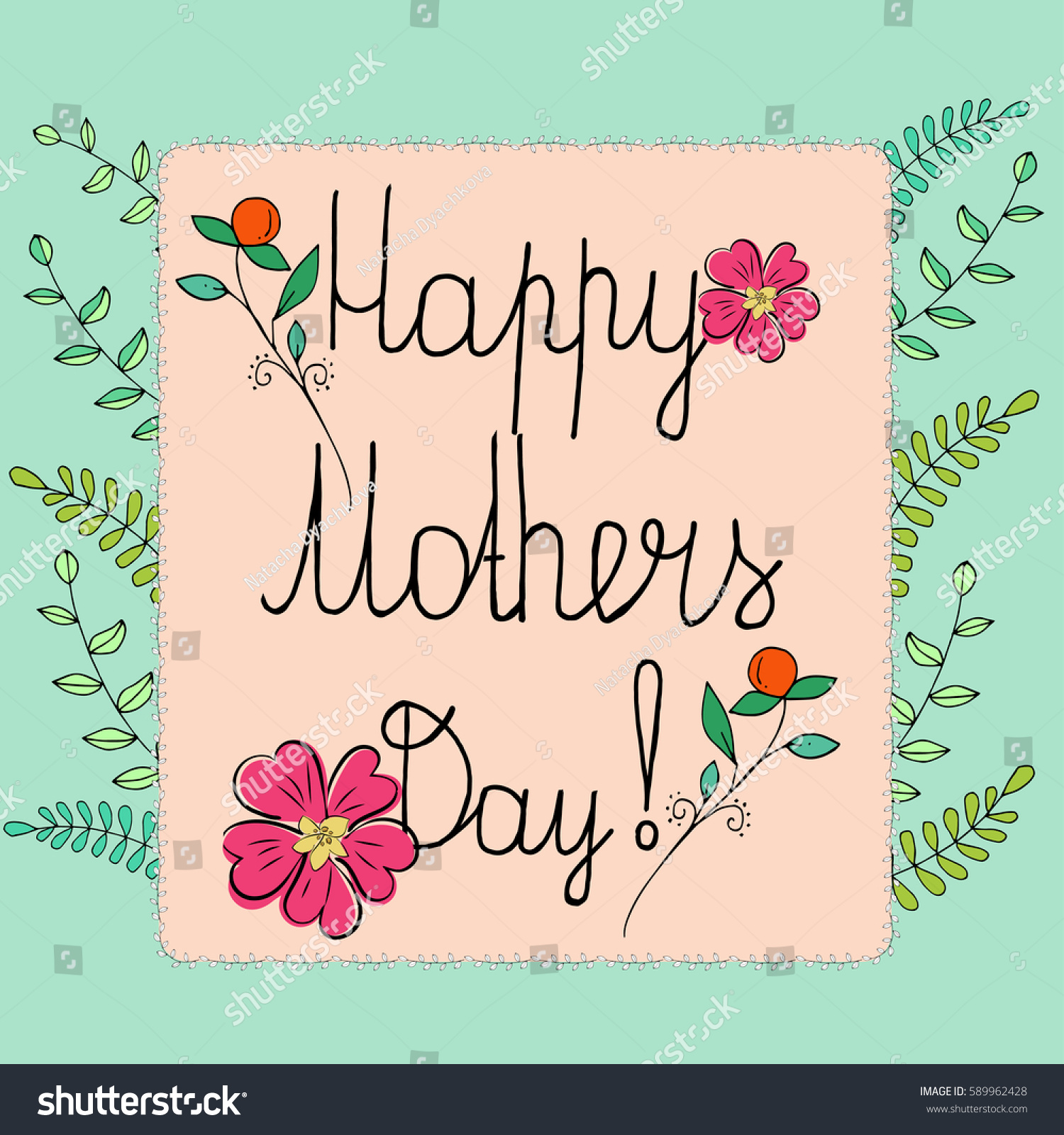 Happy Mothers Day Card Ez Canvas