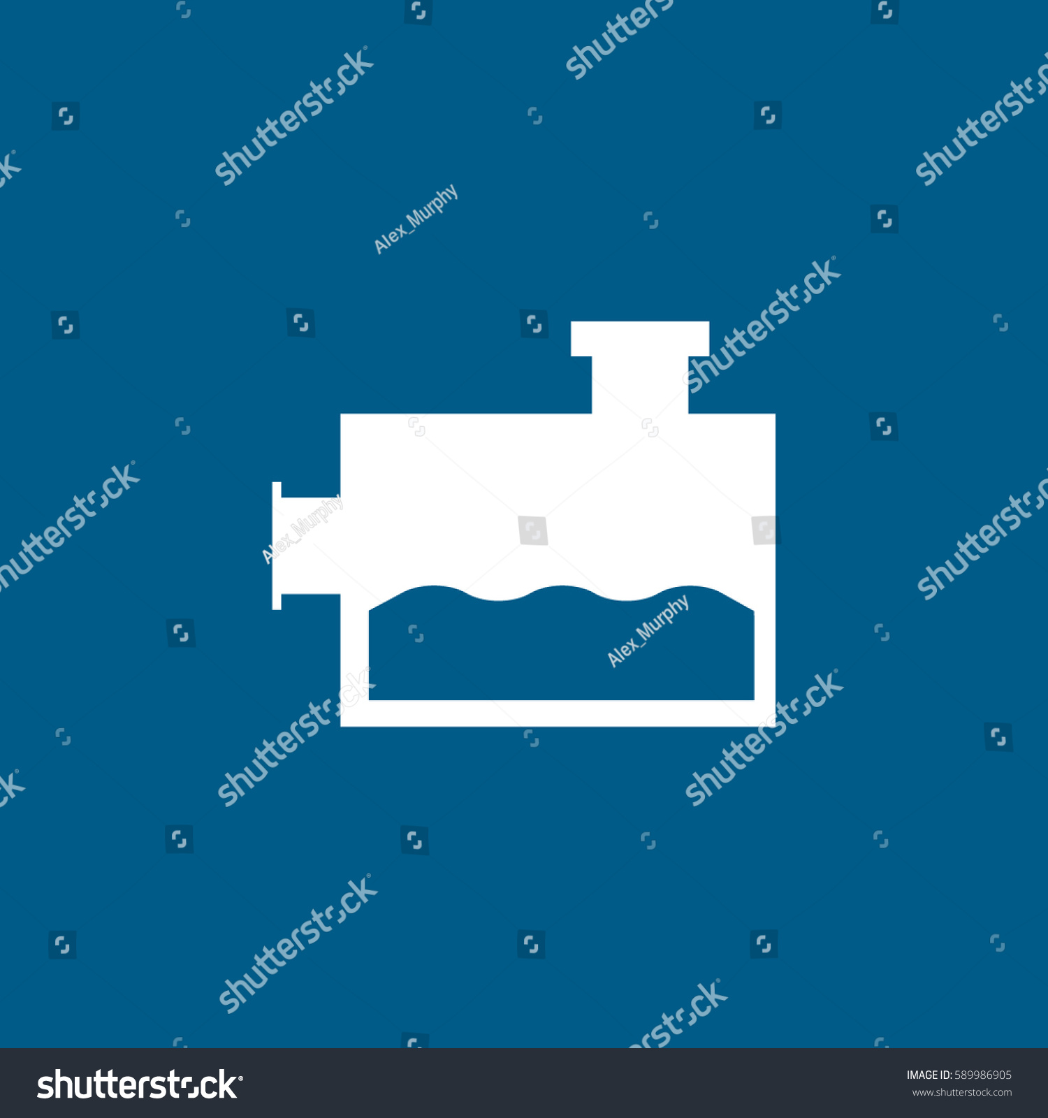 Car Washer Fluid Flat Icon On Stock Vector Hd Royalty Free