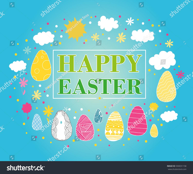 Happy Easter Stock Vector 590031158 - Shutterstock