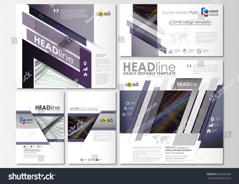 social media posts set business templates stock vector 590055566 shutterstock. Black Bedroom Furniture Sets. Home Design Ideas