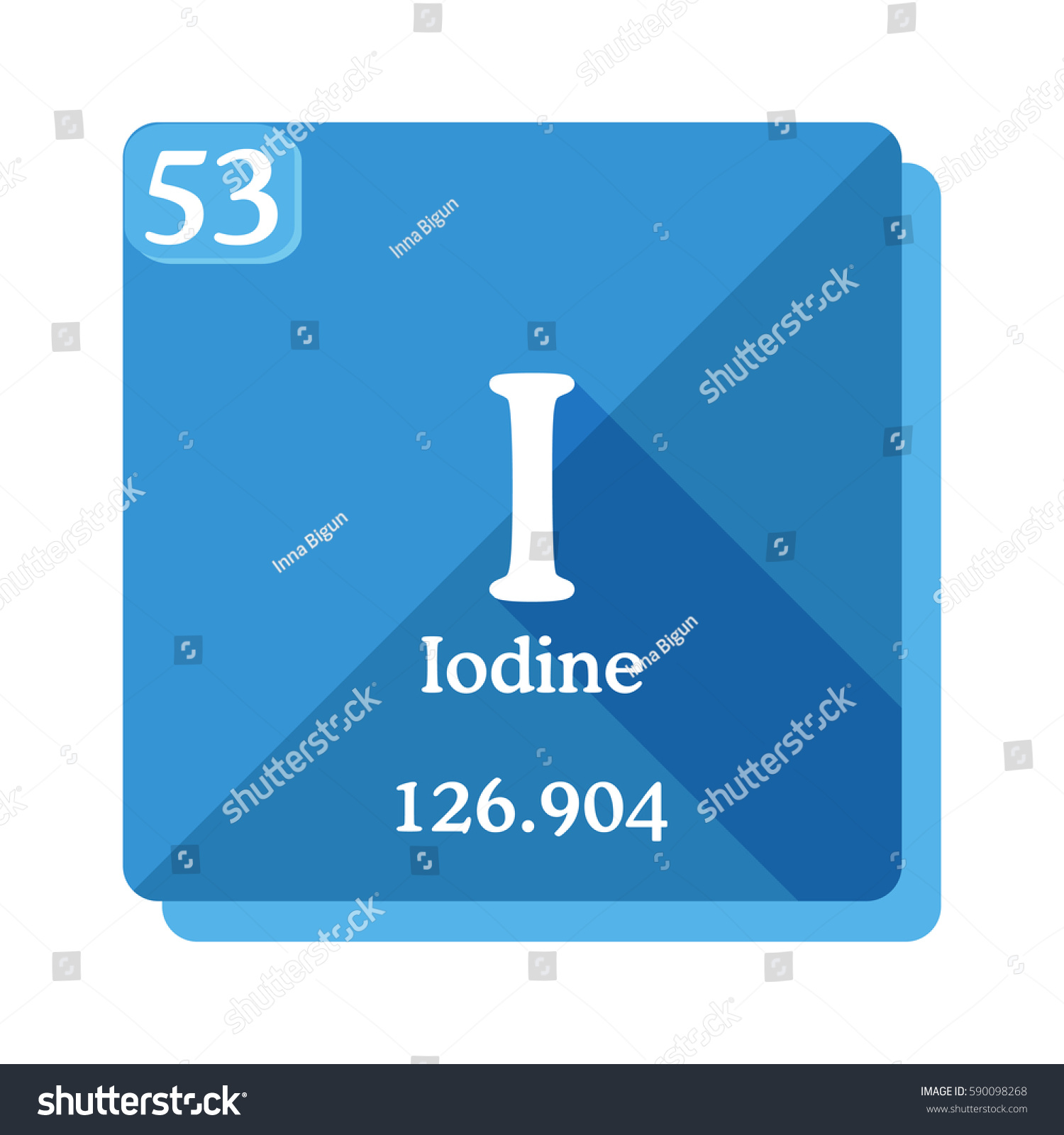 Iodine I Element Periodic Table Vector Stock Vector Royalty Free