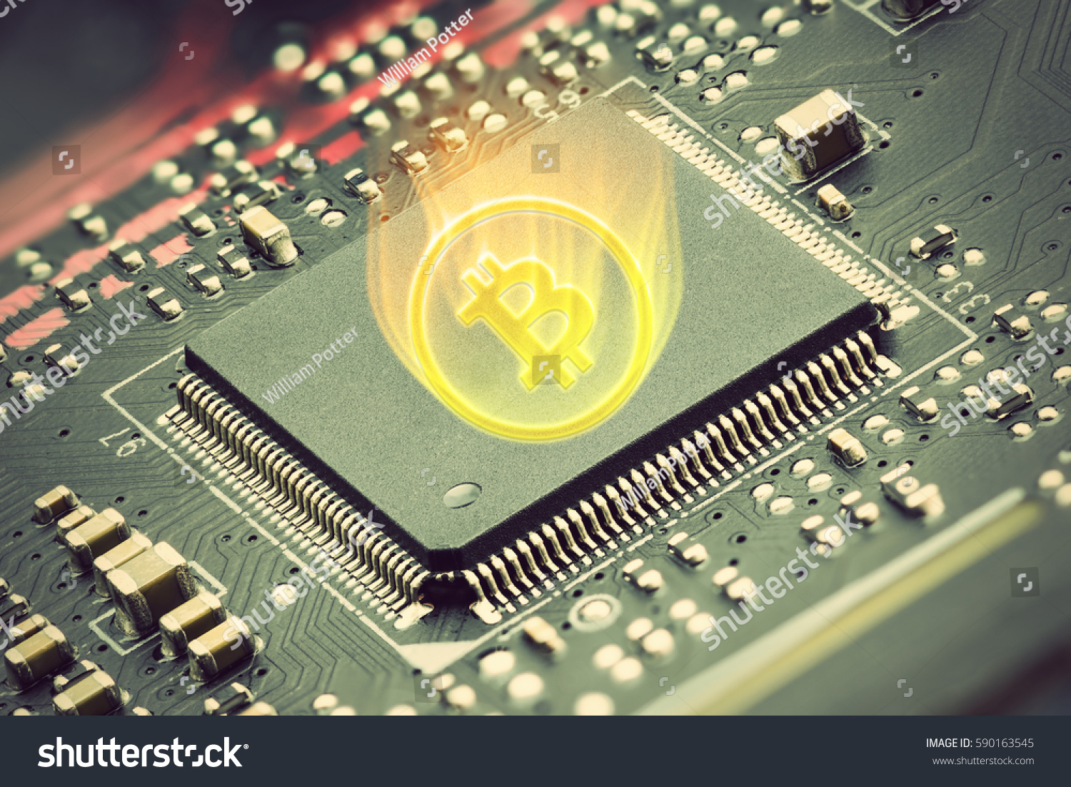 Cpu On Printed Circuit Board Digital Stock Photo Edit Now Photos Images Pictures Shutterstock A With Currency Symbol Is Distinct