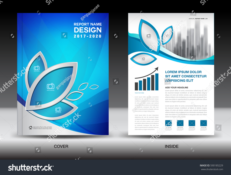 brochure template layout blue cover design stock vector 590185229 shutterstock. Black Bedroom Furniture Sets. Home Design Ideas