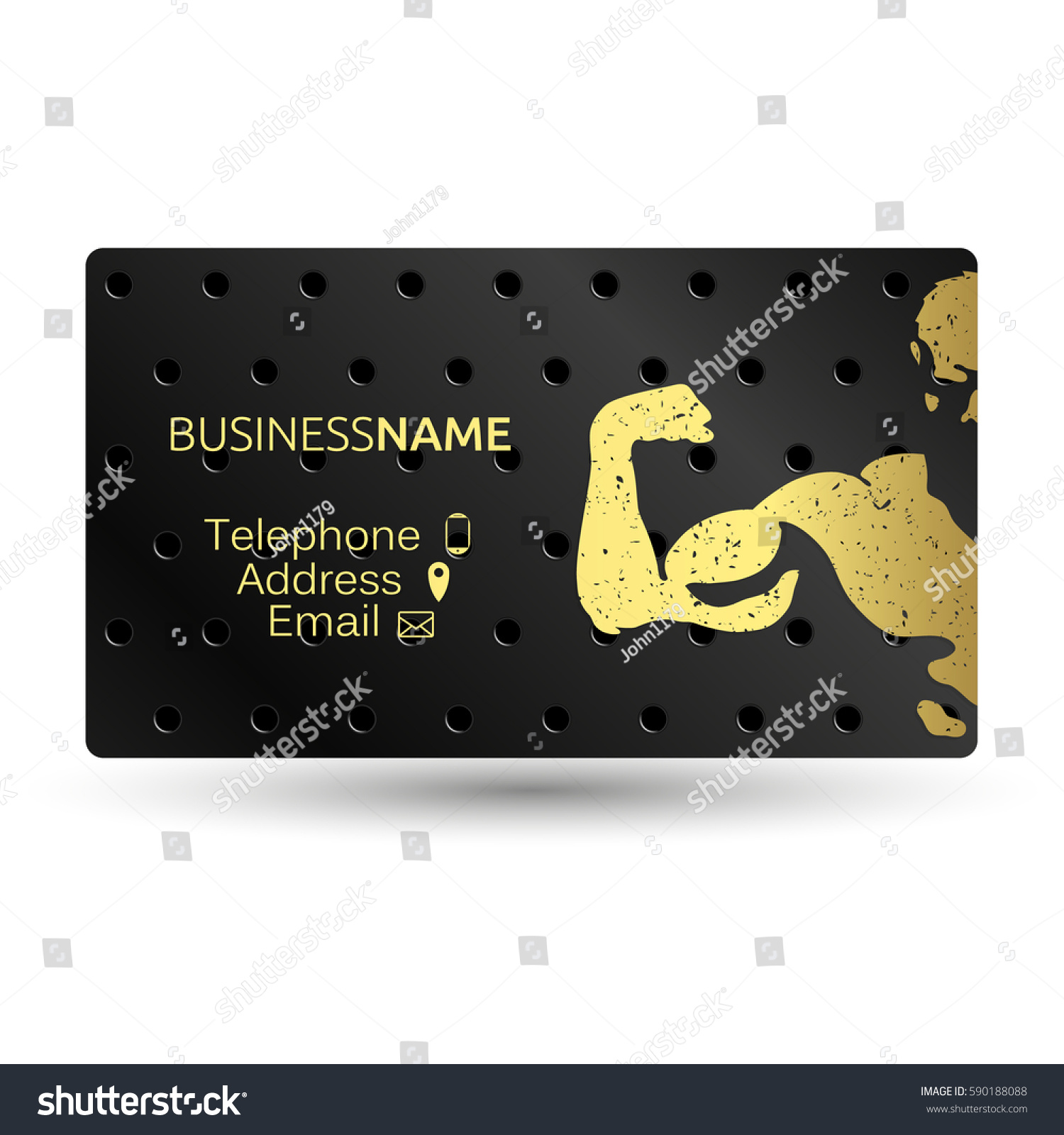 Business Card Sports Gym Stock Vector 590188088 - Shutterstock