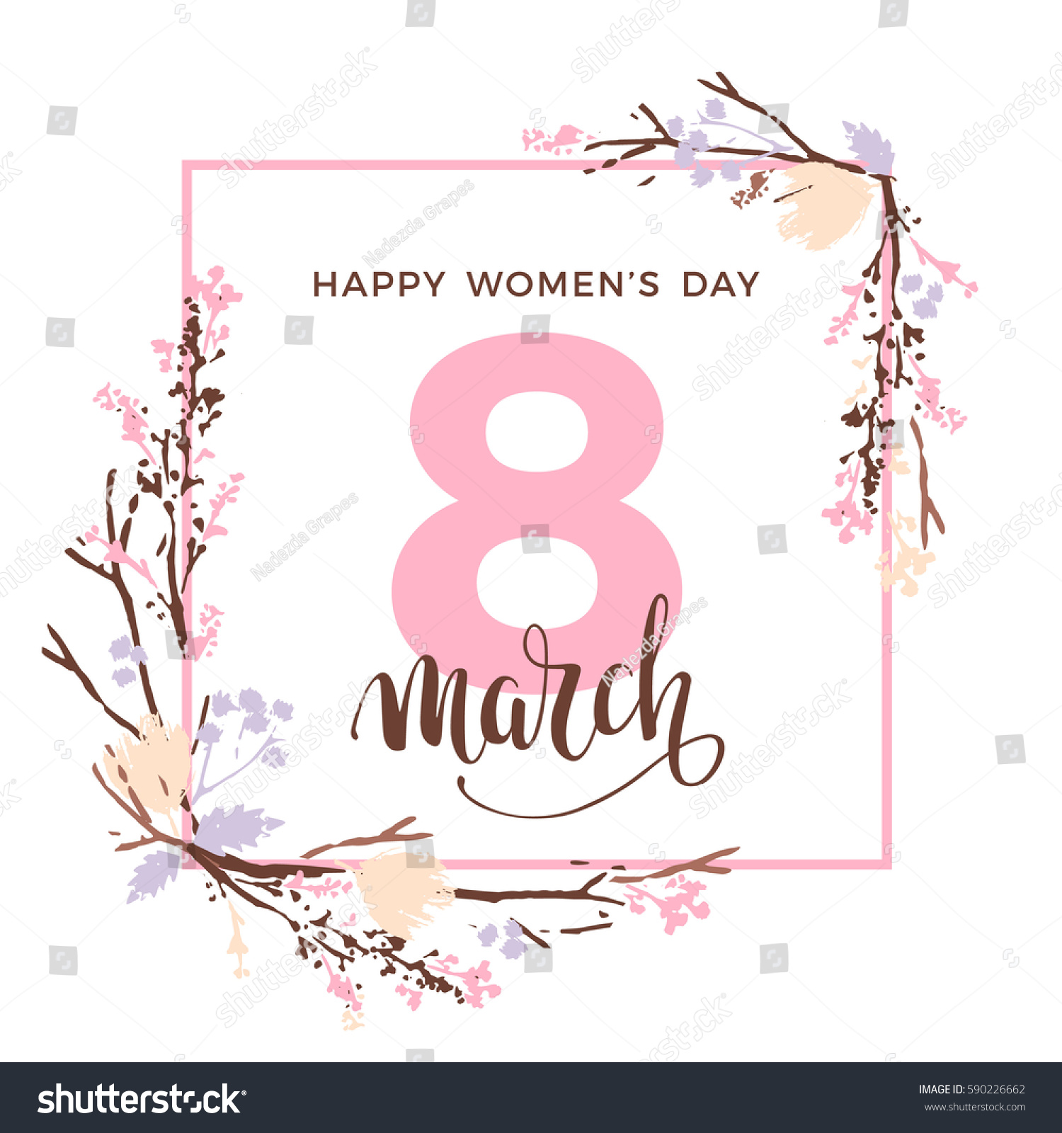 International Womens Day Vector Template Lettering Stock