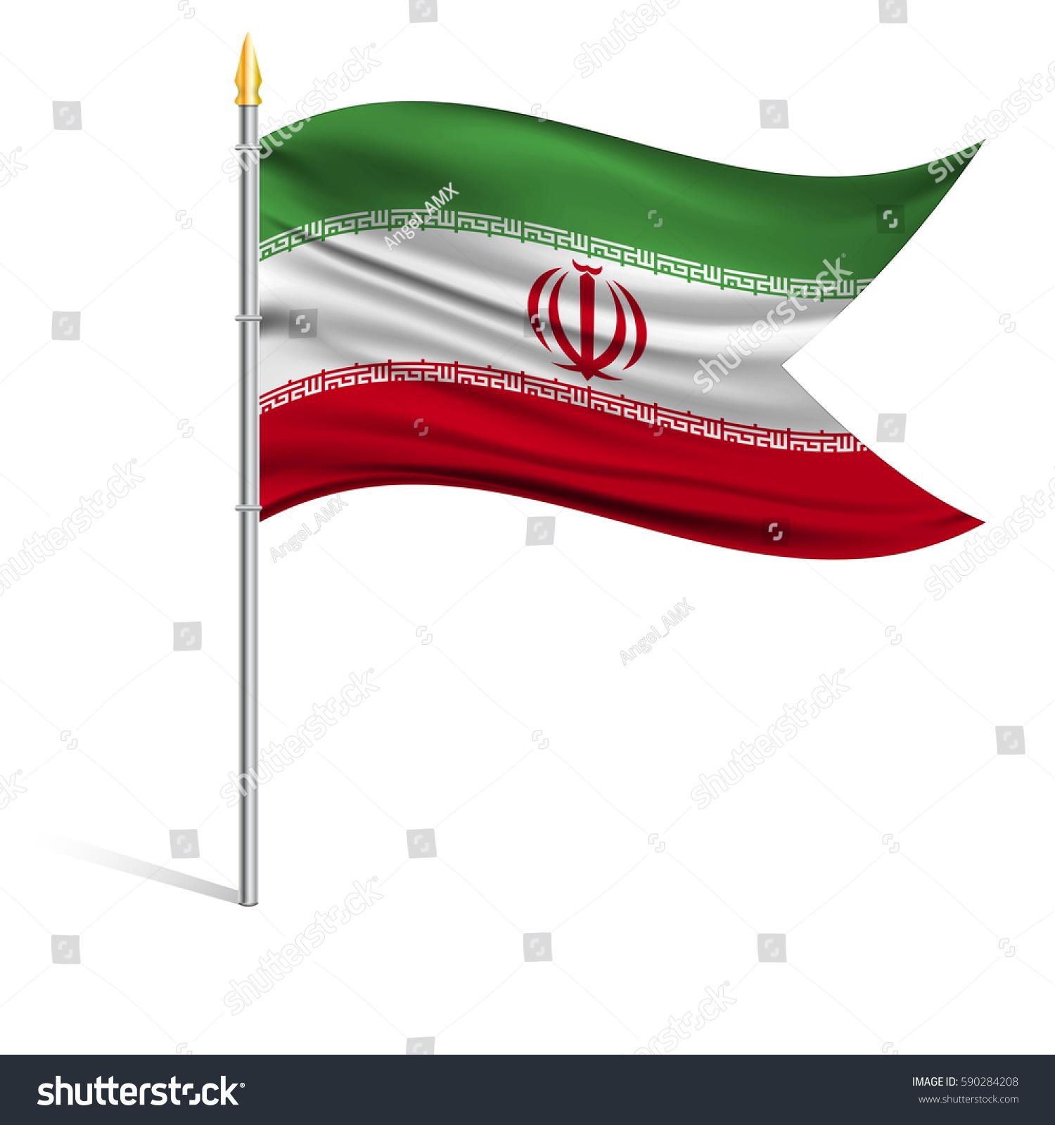 National flag iran on pole wavy stock vector 590284208 shutterstock the national flag of iran on a pole the wavy fabric the sign and buycottarizona Choice Image