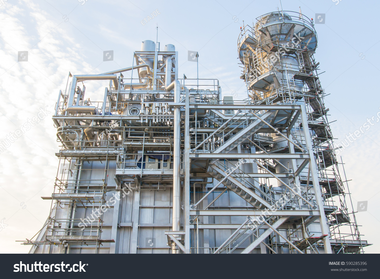 Natural Gas Combined Cycle HRSG Boiler Stock Photo (Royalty Free ...