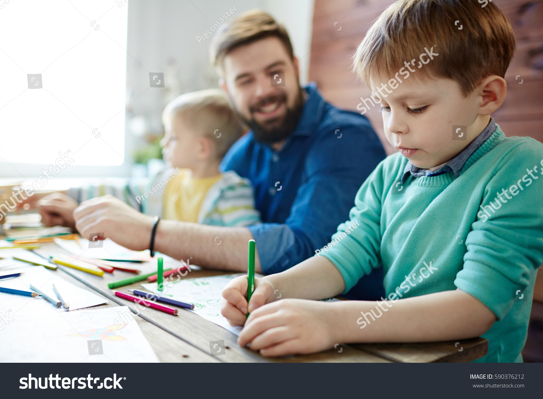Teacher And Small Boy