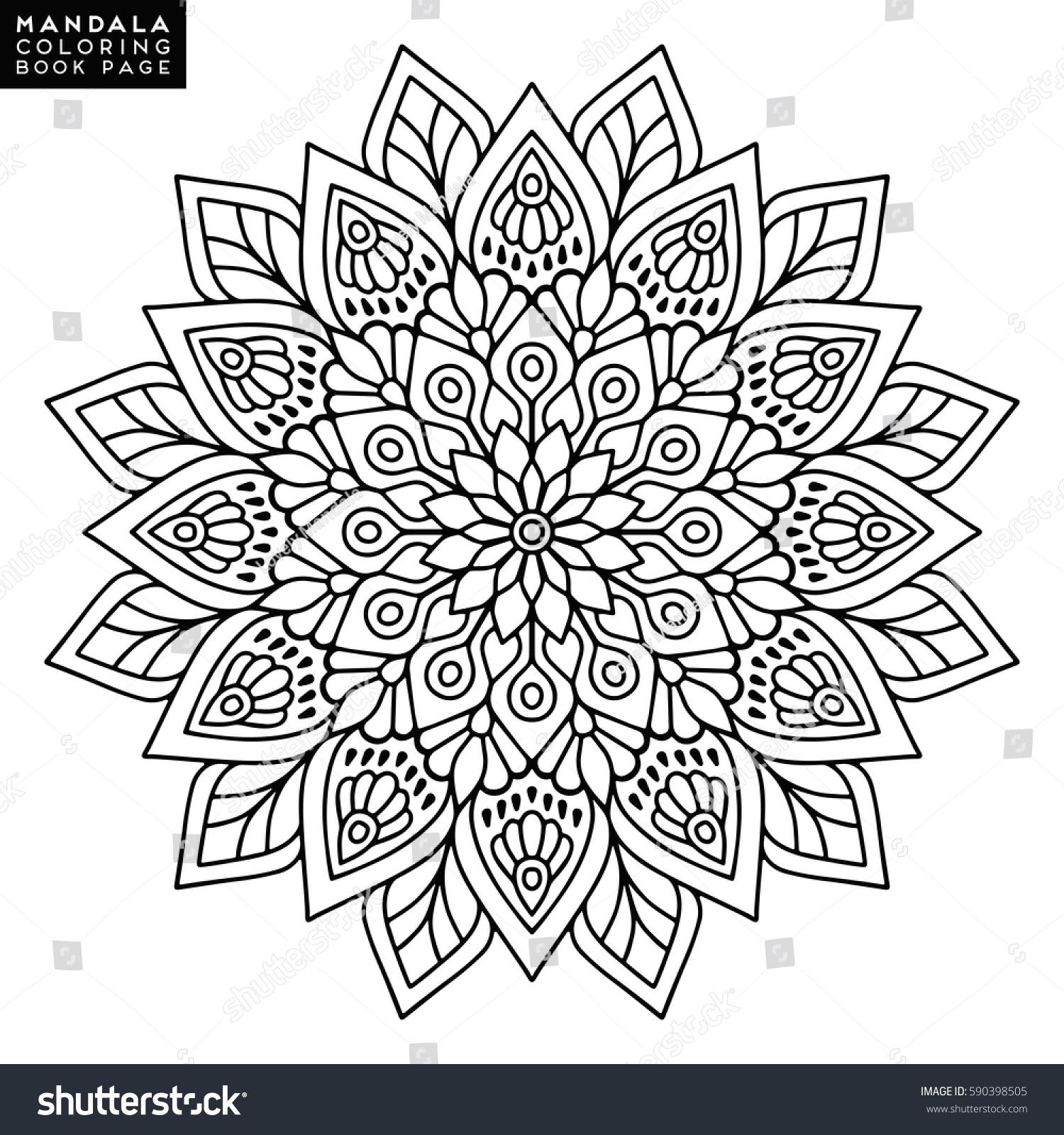 Flower Mandala Vintage Decorative Elements Oriental Stock Vector 590398505