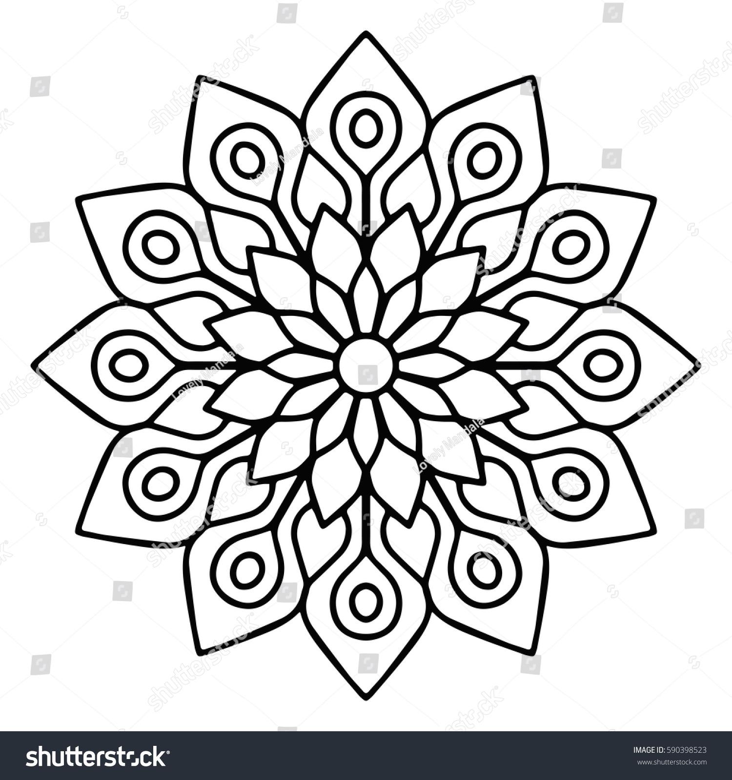 Flower Mandala Vintage Decorative Elements Oriental Stock Vector 590398523