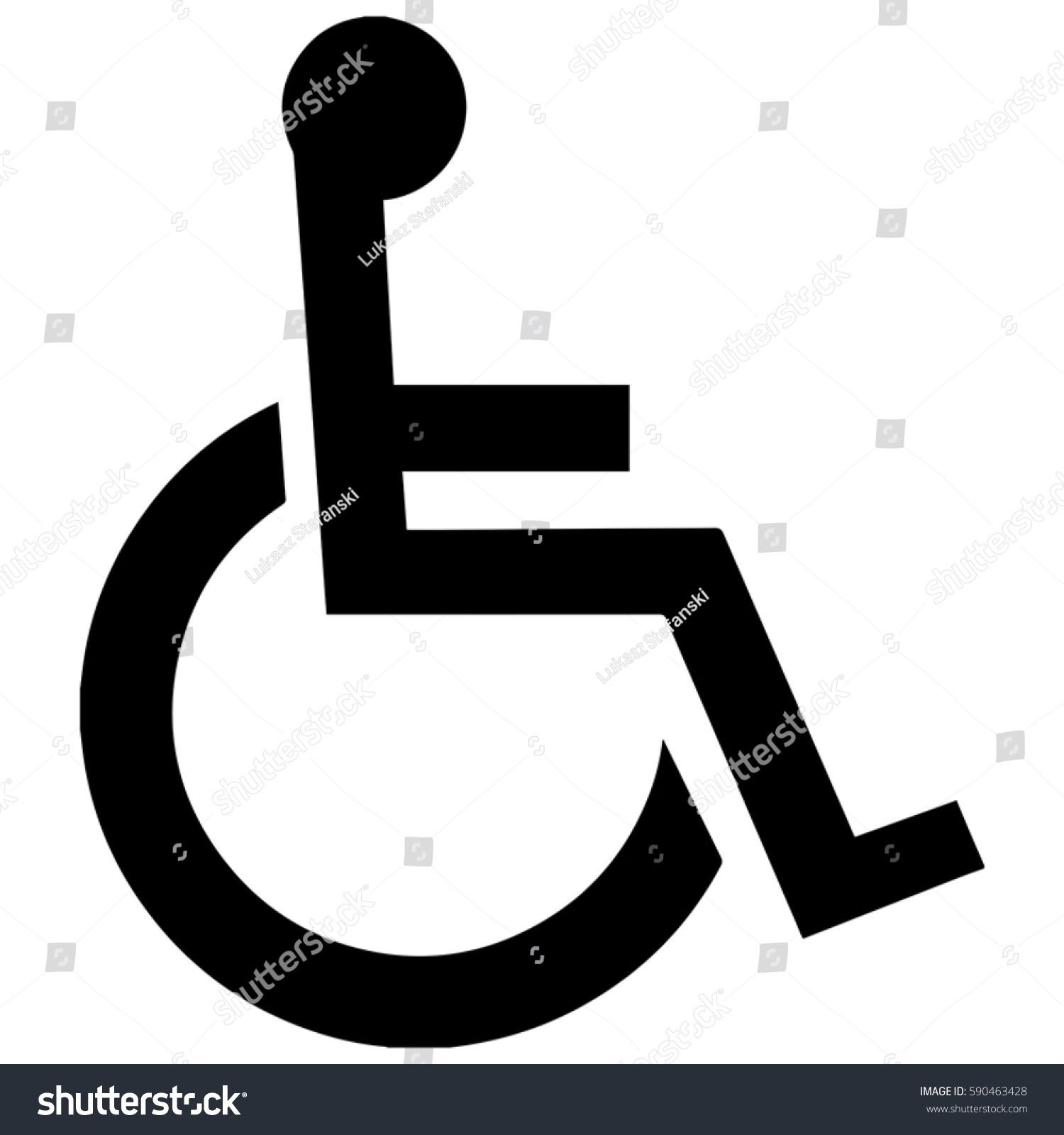 Toilet Symbol Unicode Disabled Accessible Facilities Stock Vector