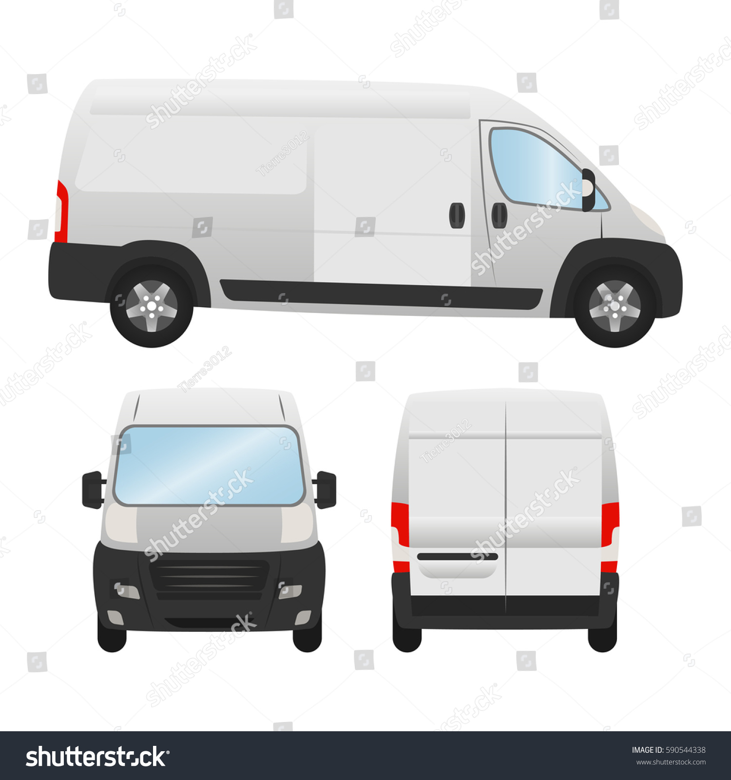 Delivery Van Template Presentation Ad Vector Stock Vector ...