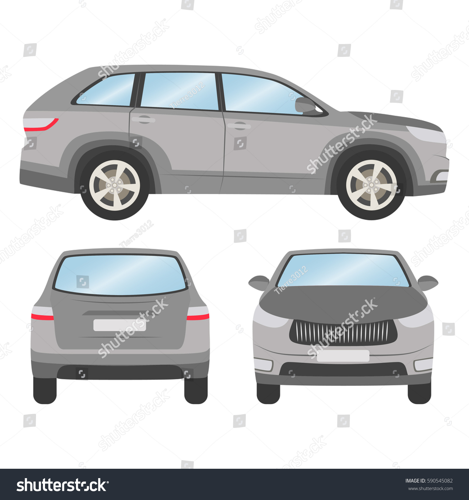 car vector template on white background stock vector 590545082 shutterstock. Black Bedroom Furniture Sets. Home Design Ideas
