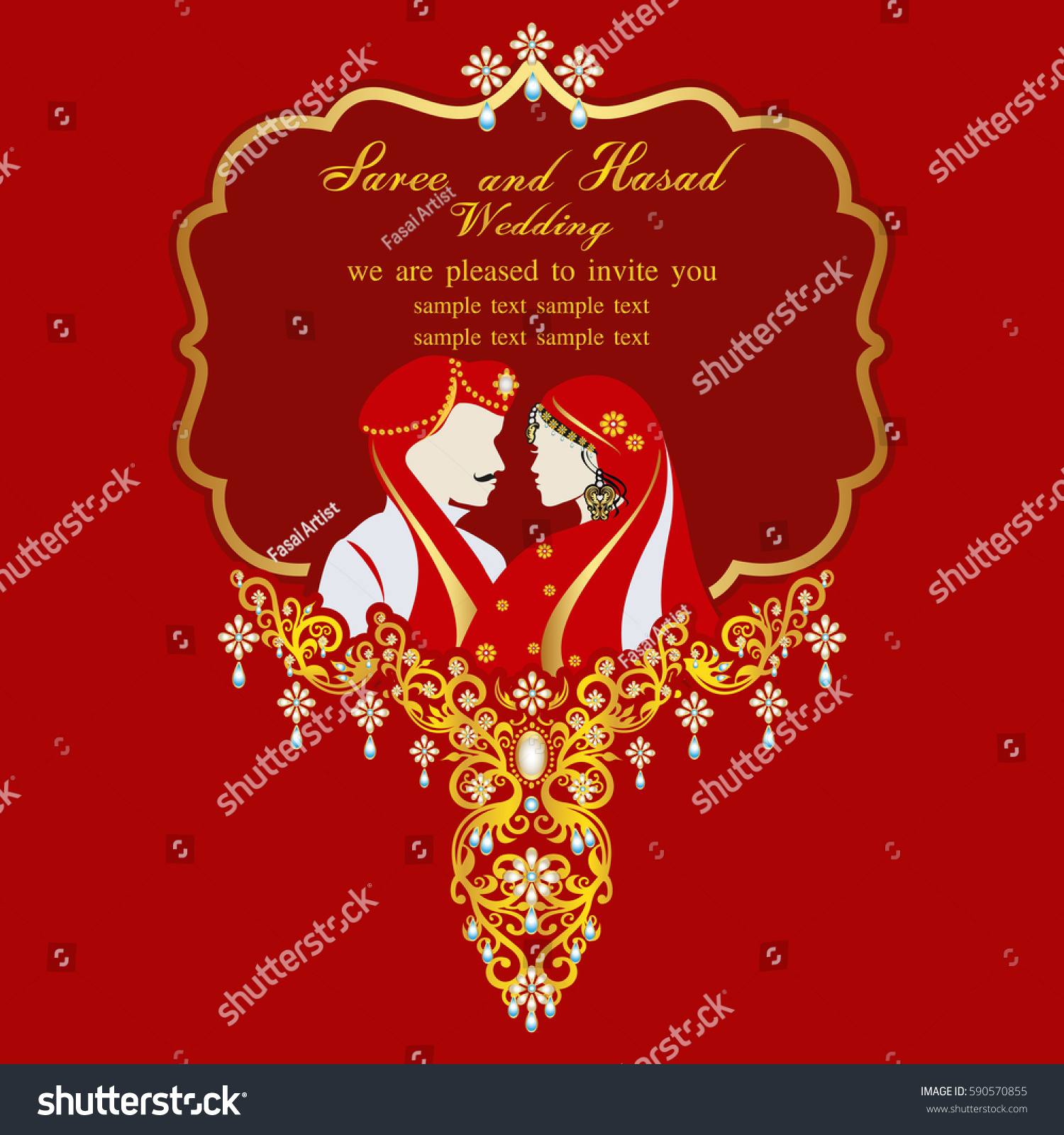 Indian Wedding Invitation Card Abstract Background Stock Photo ...
