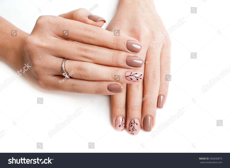 Female Hand Nail Art Isolated On Stock Photo Royalty Free