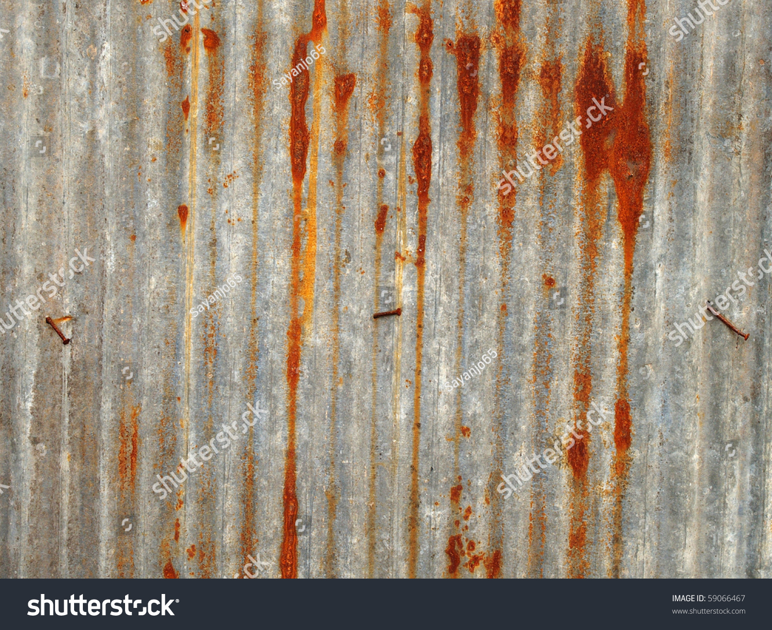 A Rusty Corrugated Iron Metal Fence Close Up Zinc Wall