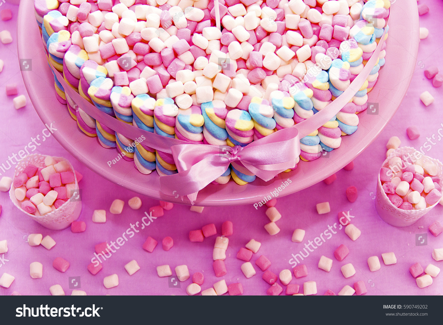 Terrific Girly Birthday Cake Stock Photo Edit Now 590749202 Personalised Birthday Cards Beptaeletsinfo