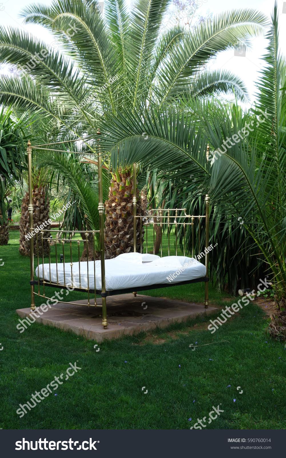 Moroccan Garden Design Stock Photo Edit Now 590760014
