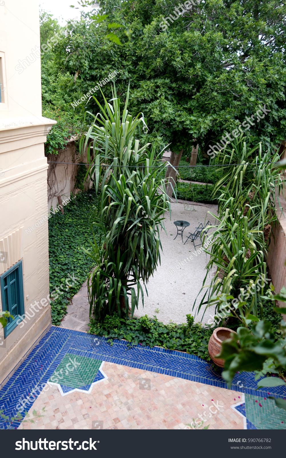 Moroccan Garden Stock Photo Edit Now 590766782