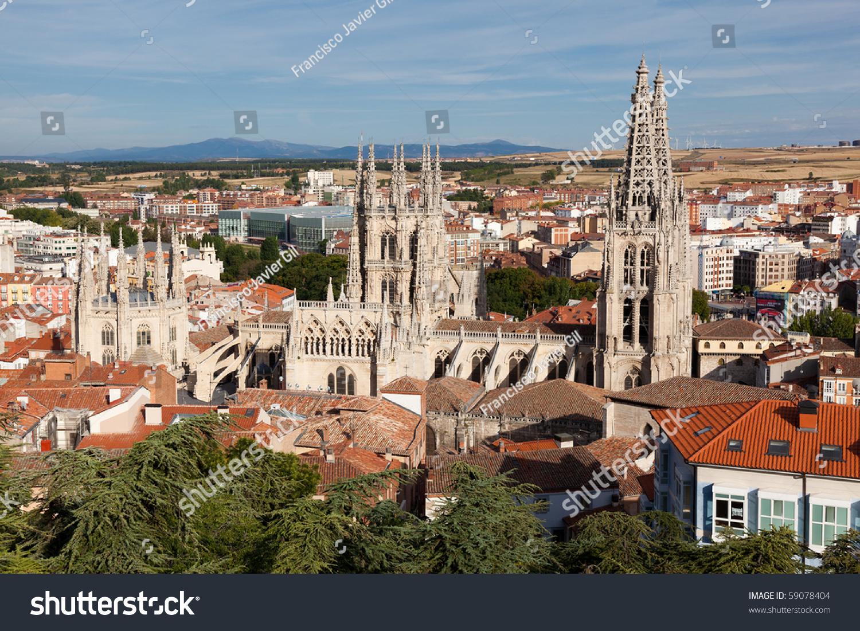 Cathedral burgos castilla y leon spain stock photo for Comedores castilla y leon