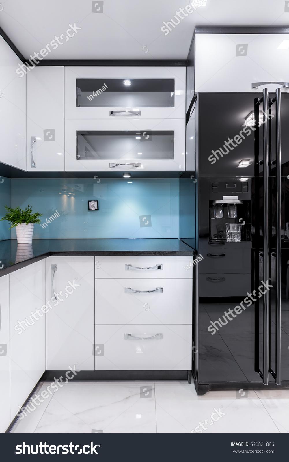 Beautifully Designed Kitchen Interior Minimalist Color Stock Photo ...