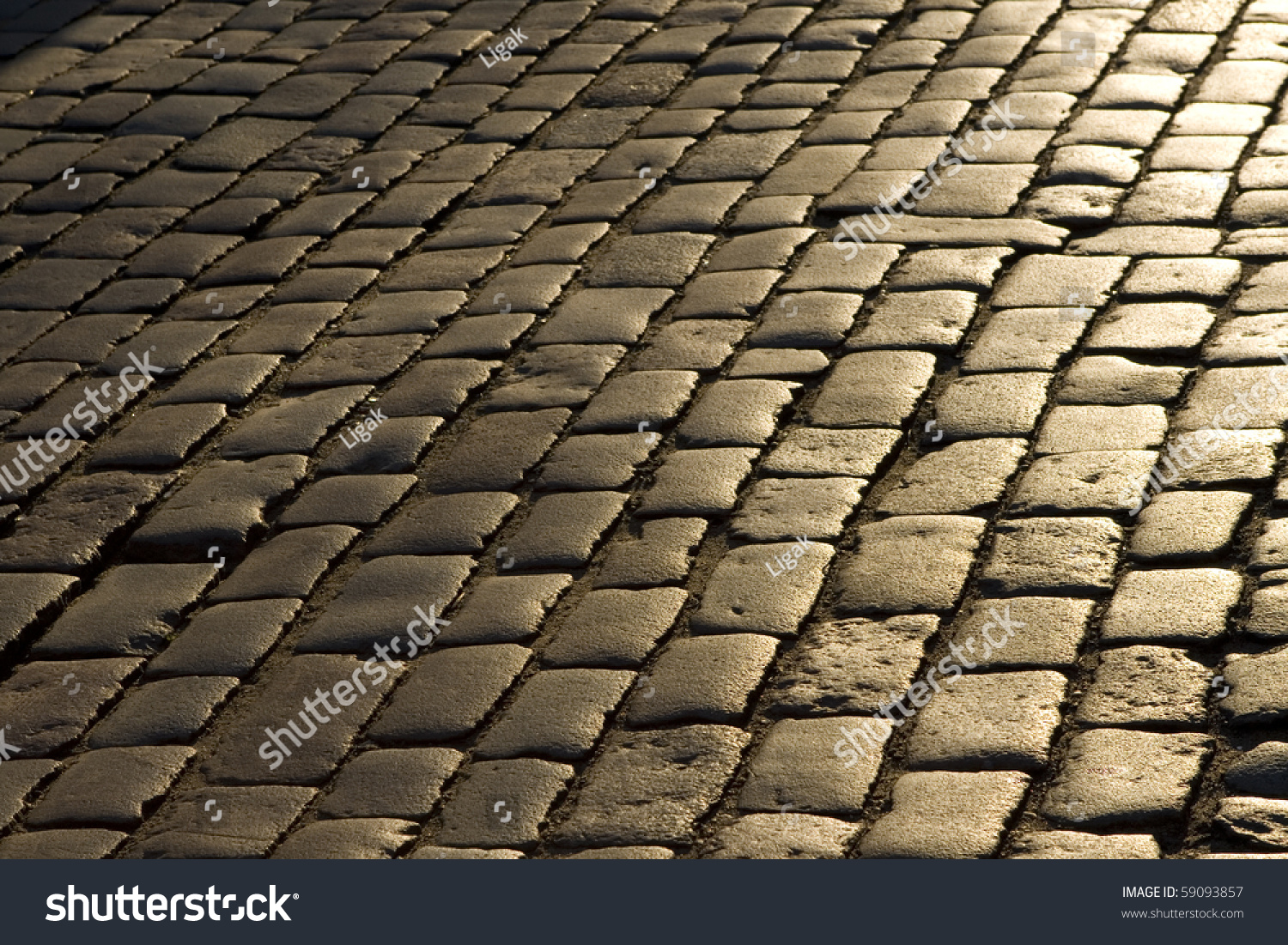 Old Cobblestone Street Stock Photo 59093857 Shutterstock