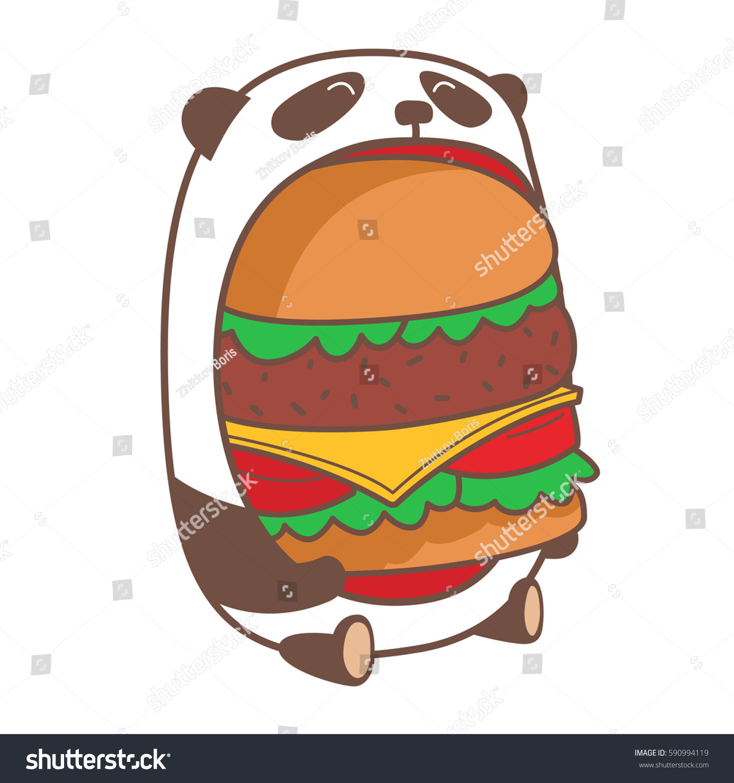 hamburger cartoon character