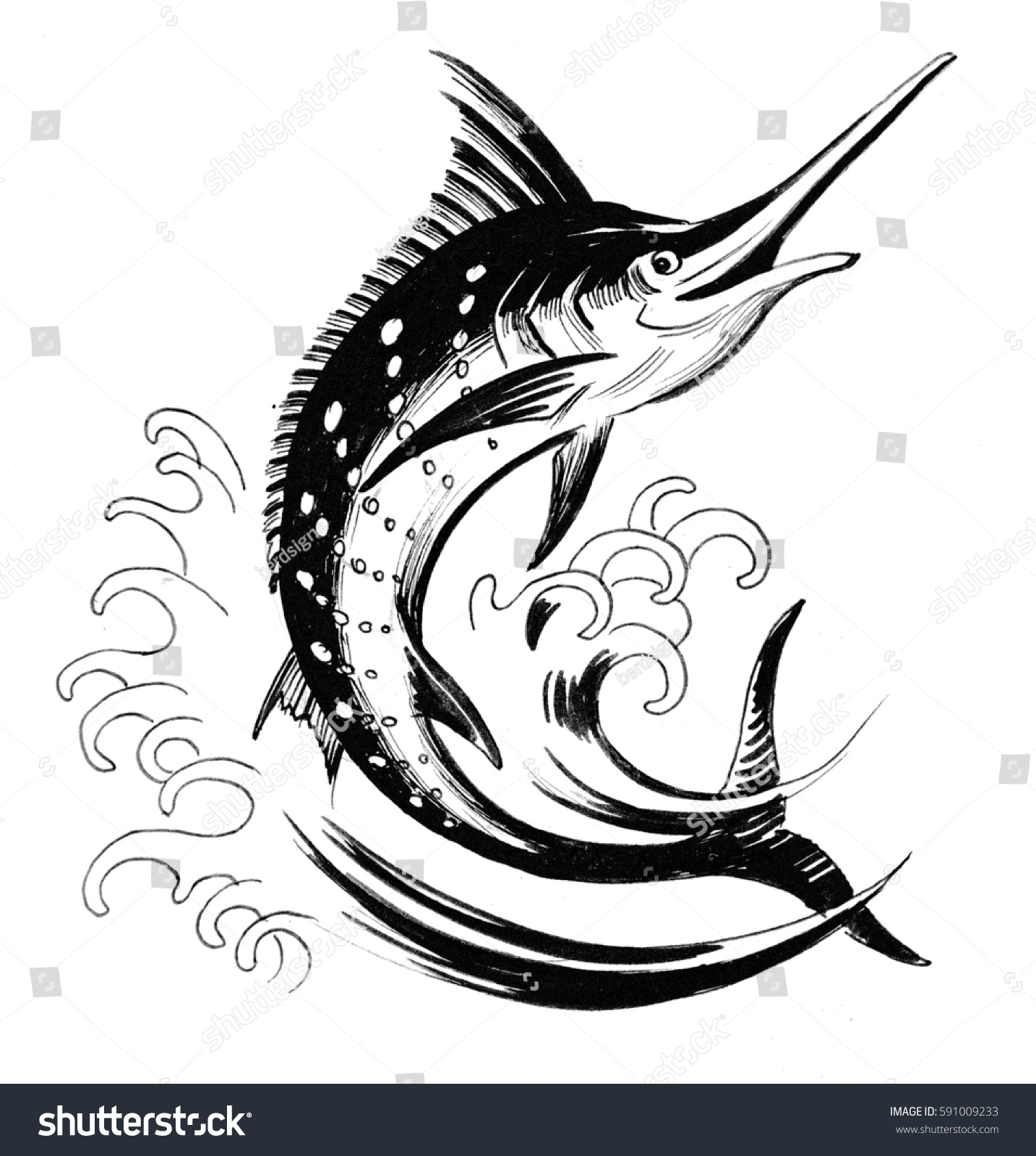 Uncategorized Swordfish Drawing black white drawing swordfish stock illustration 591009233 and of a swordfish
