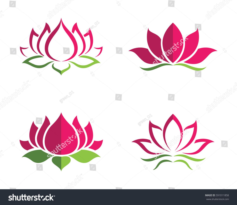 Beauty vector lotus flowers design logo stok vektr 591011858 beauty vector lotus flowers design logo template icon izmirmasajfo