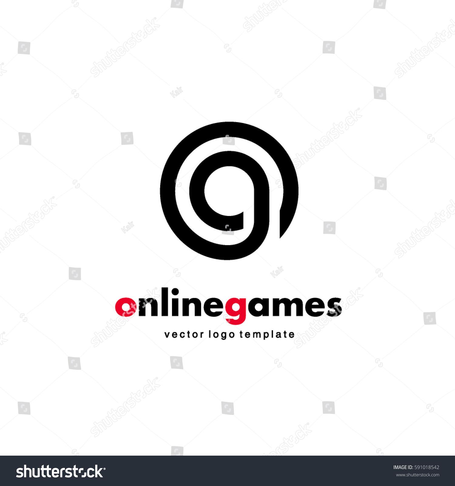 Vector Logo Design Online Game Letter Stock Vector Royalty Free 591018542