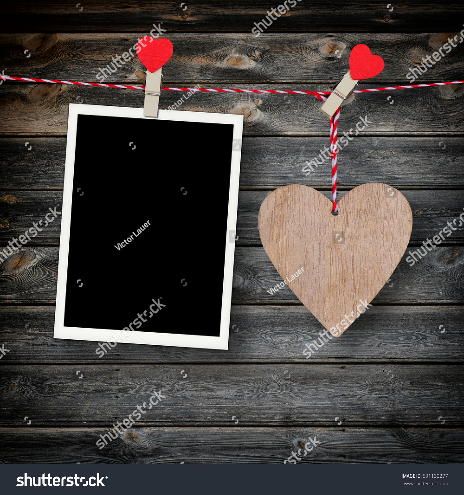 Wooden heart empty photo frame on stock photo 591130277 for Rustic concept