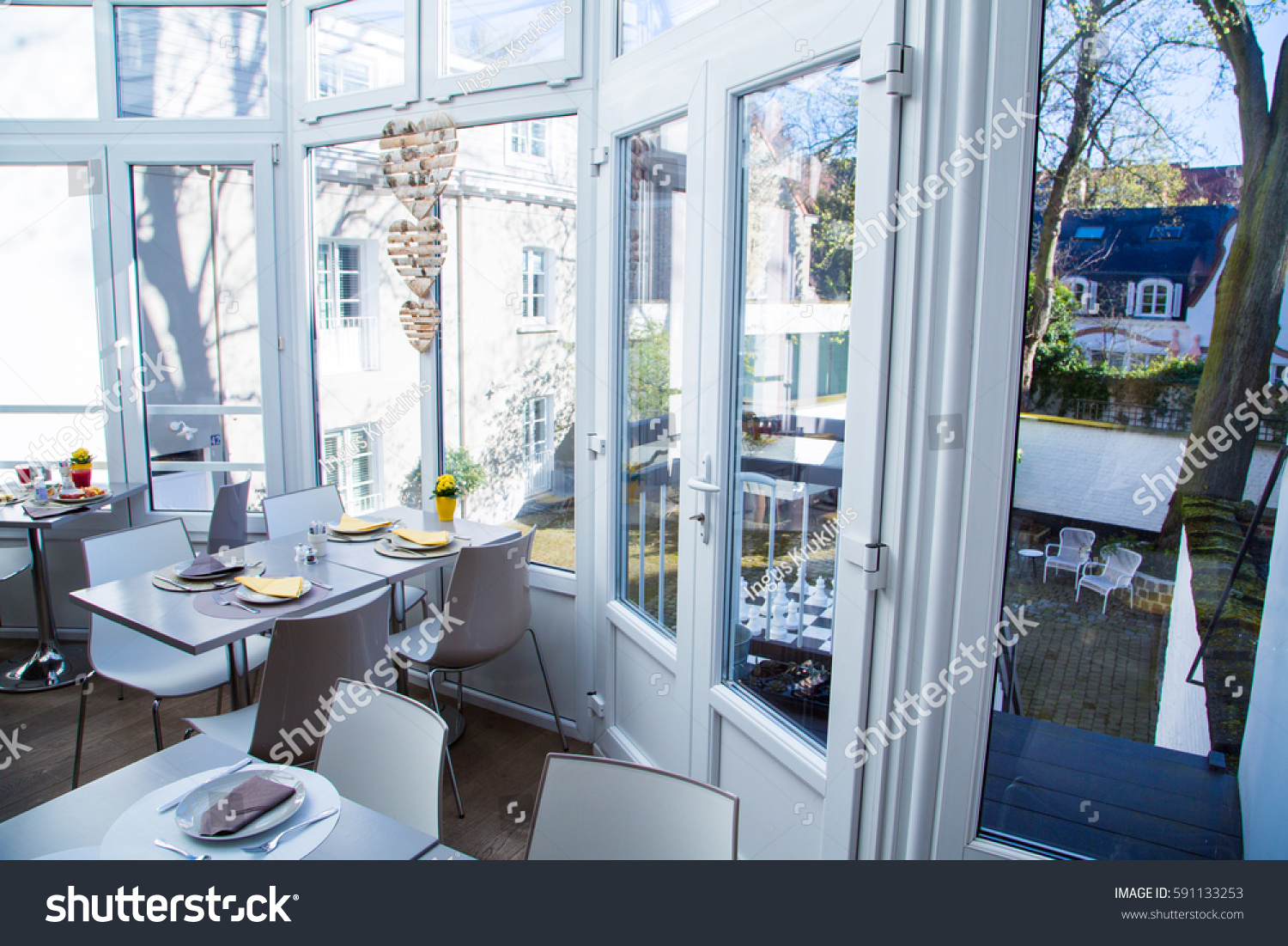 Beautiful Kitchen Restaurant Interior Design Brussel Stock Photo ...