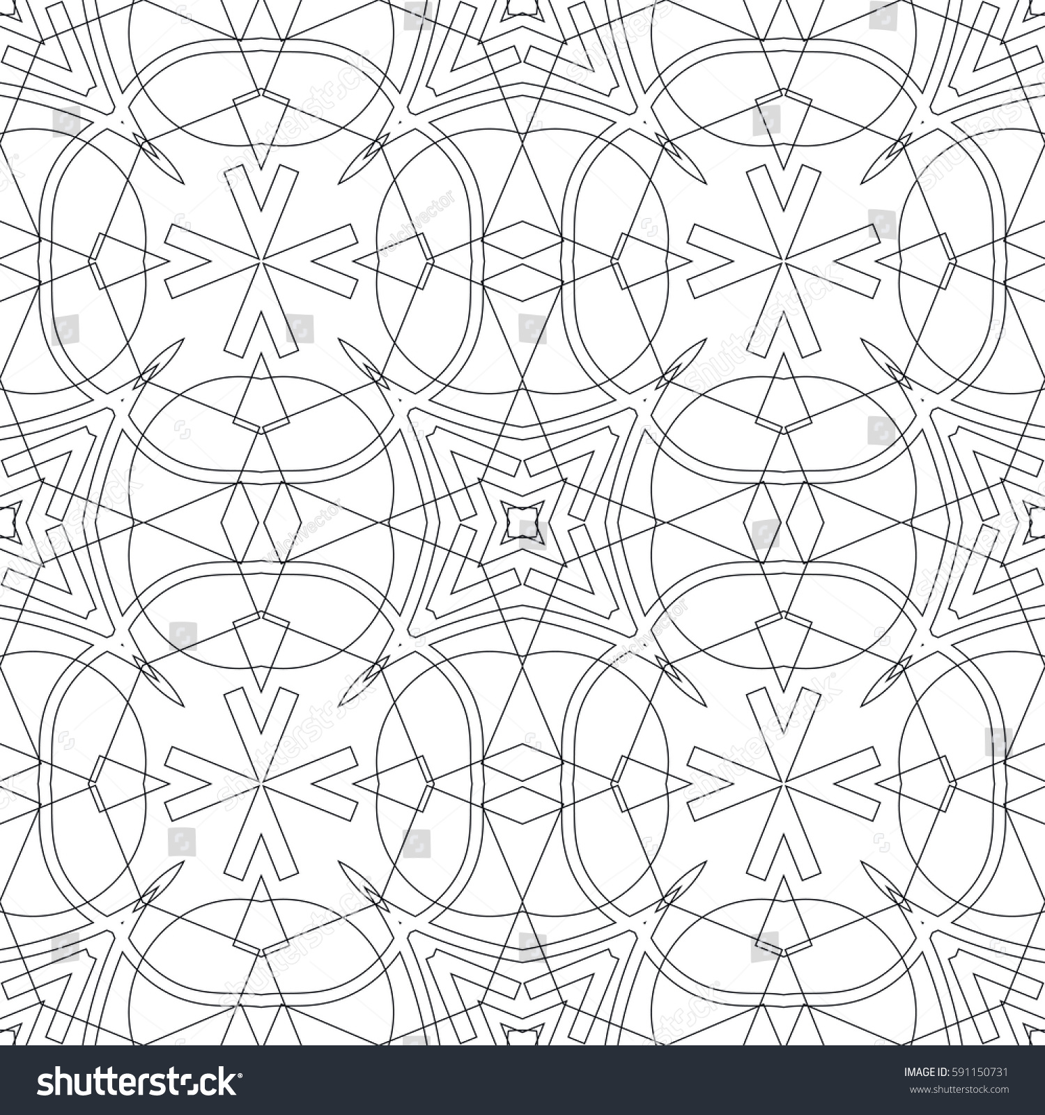 Islamic Geometric Pattern Black And White
