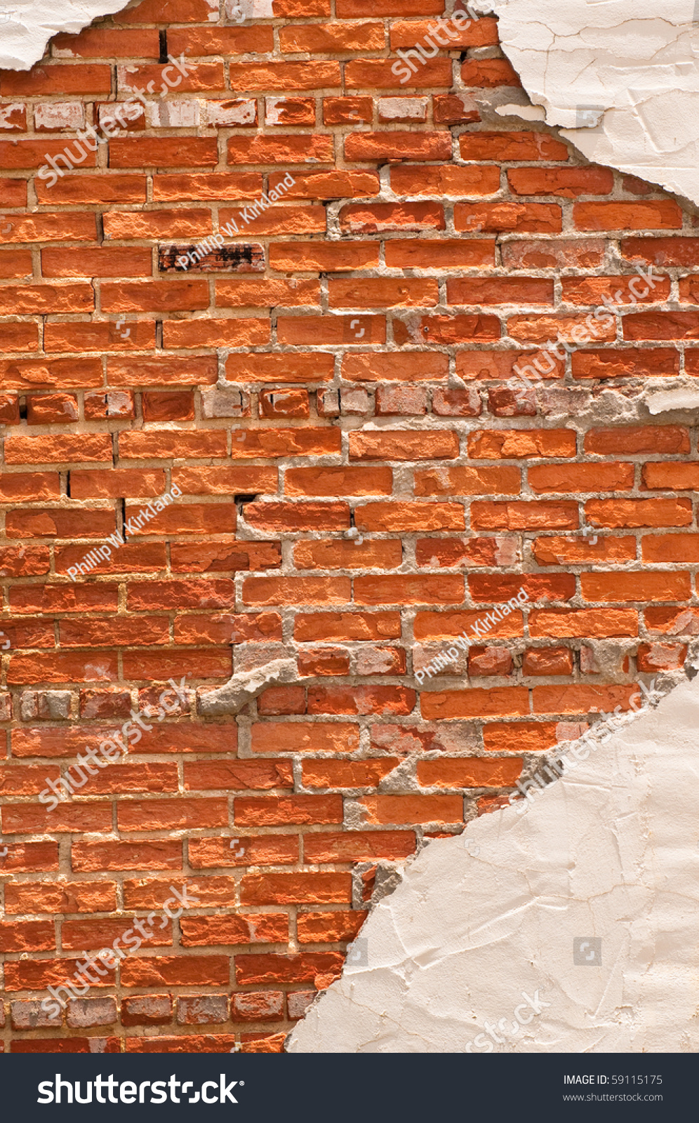 Stucco Brick Wall Design Stock - 1089.9KB