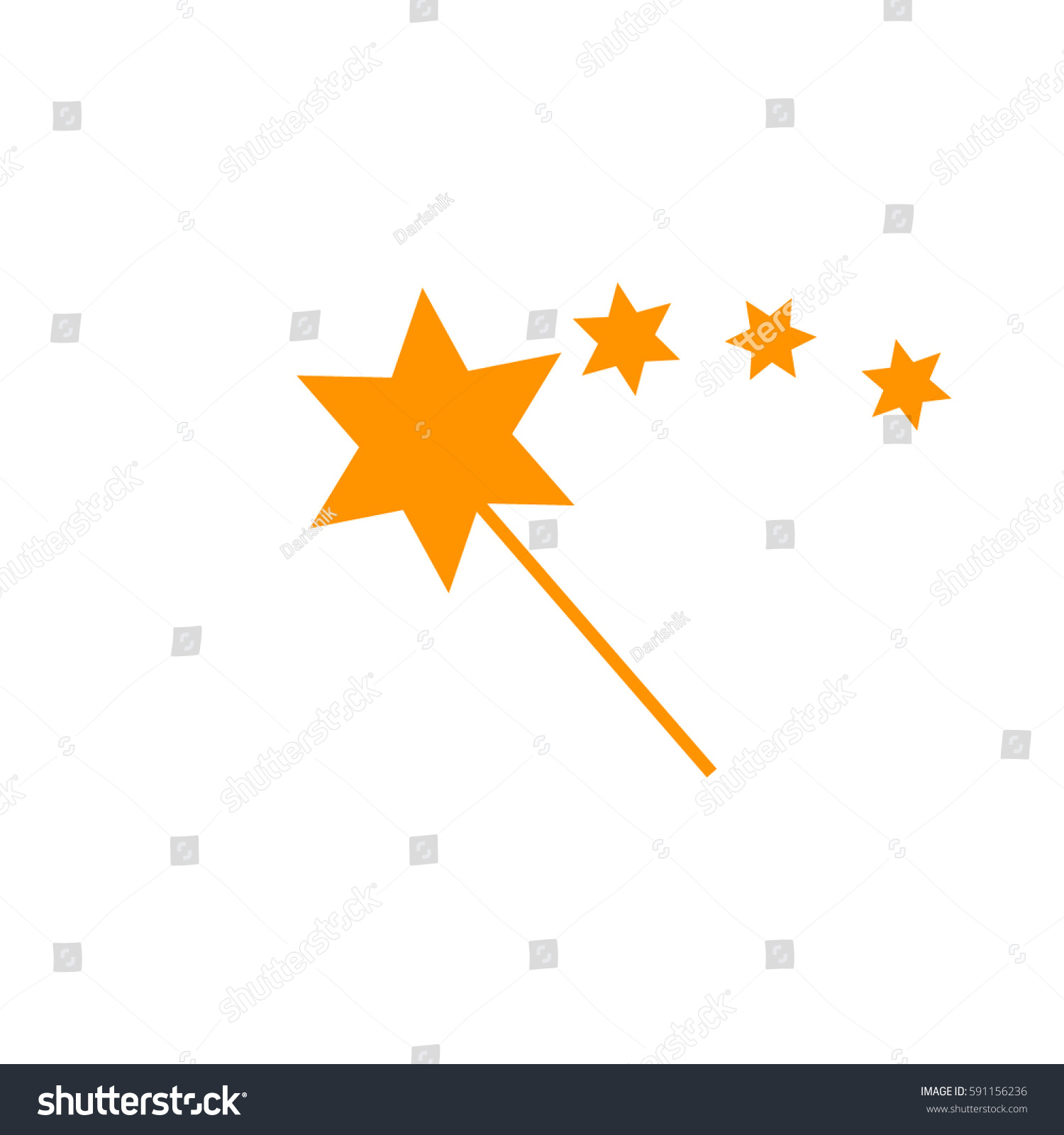 Magic Icon Vectororange Icon Stock Vector 591156236 ...