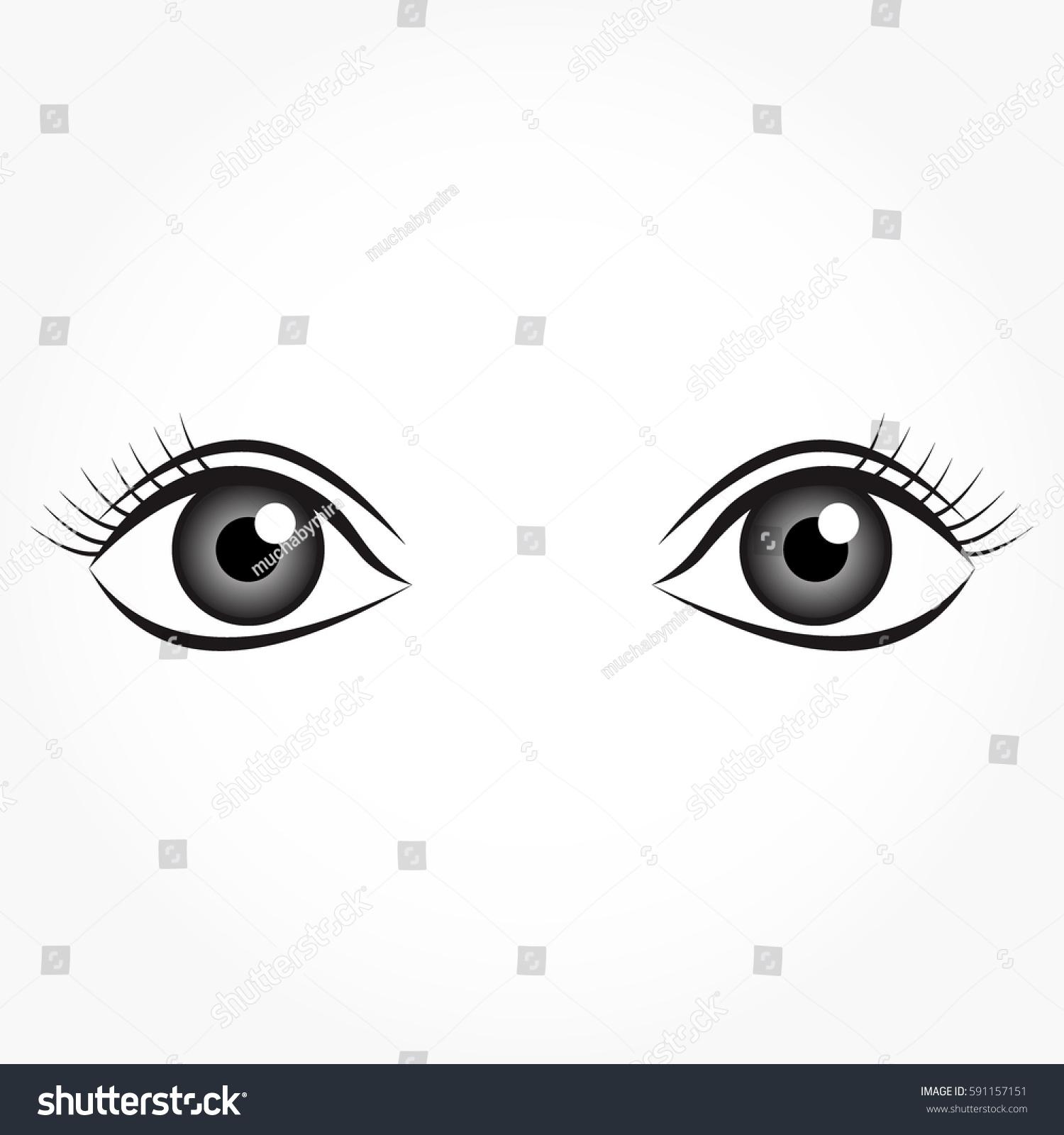 Cartoon Eyes Looking Up