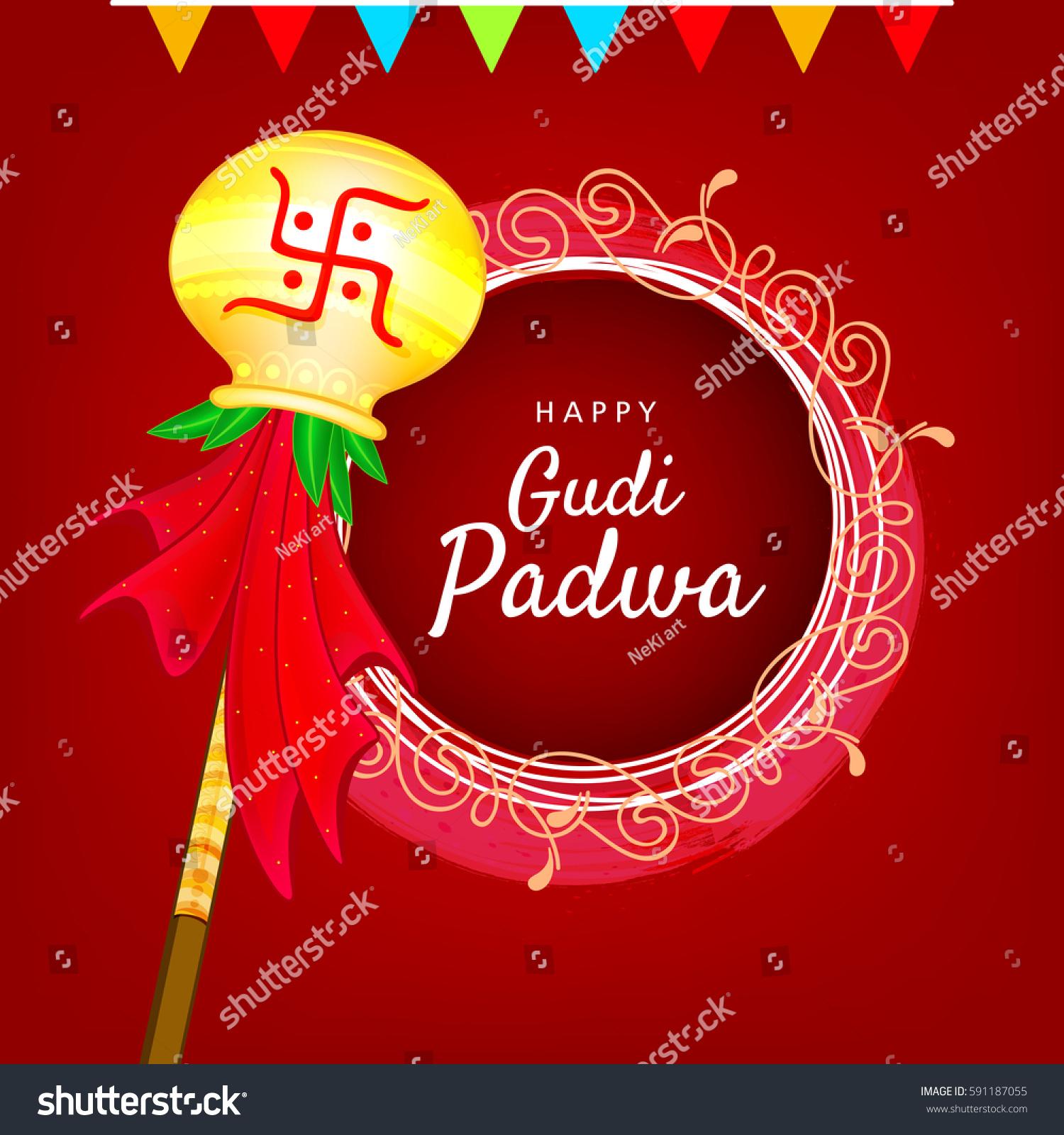Happy Gudi Padwa Marathi New Year Stock Vector Royalty Free