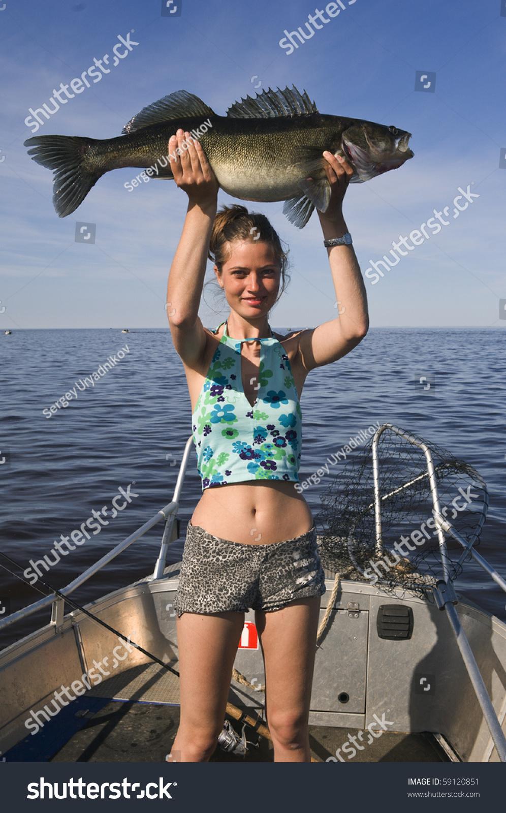 Russia. Ladoga Lake.Fishing. Big One Pike Perch./Great ...