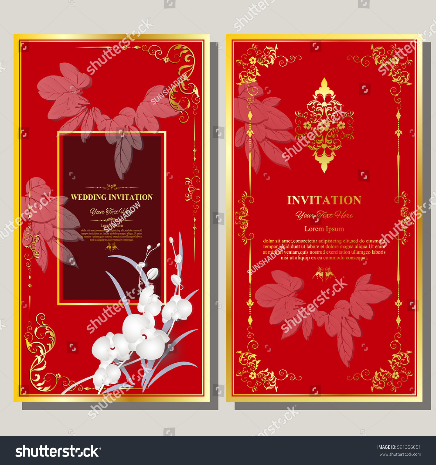 Wedding Invitation Card Flyer Pages Illustration Stock Vector ...
