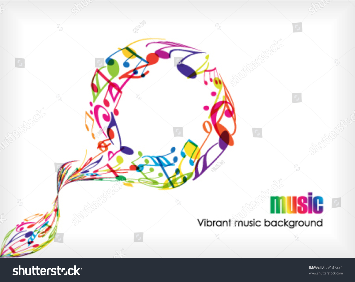 Abstract Music Tunes On White Stock Vector 59137234