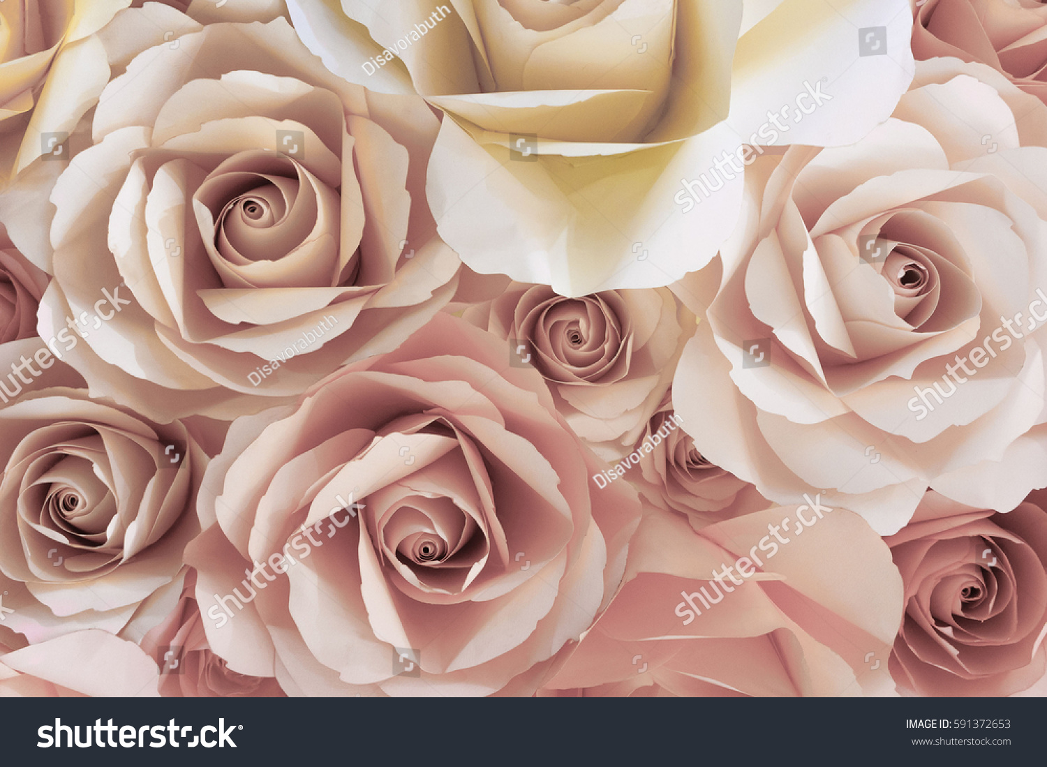Colorful Rose Paper Flowers Texture Background Stock Photo Edit Now