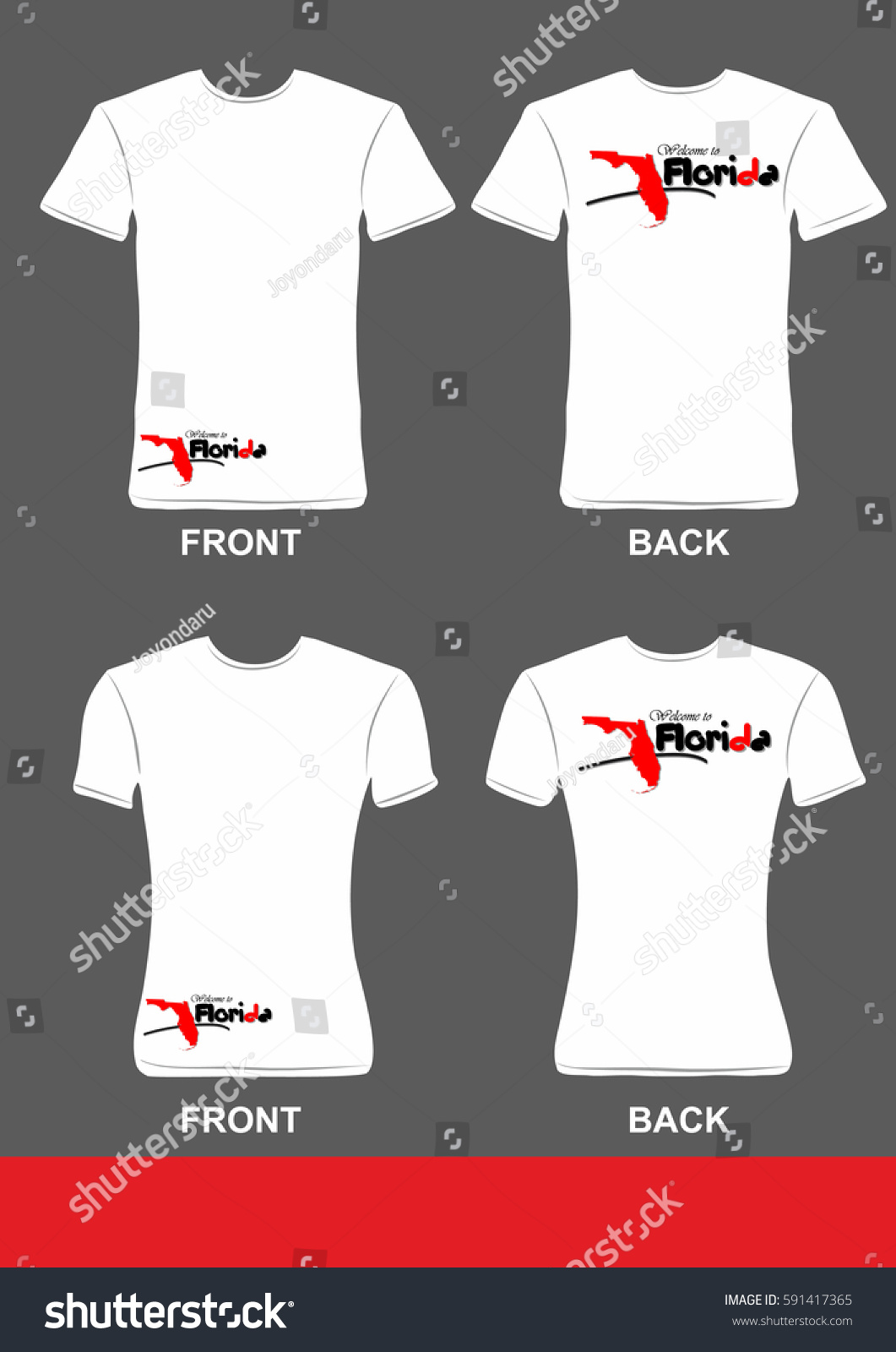 Simple Tshirt Design Welcome Florida 3 Stock Vector Royalty Free