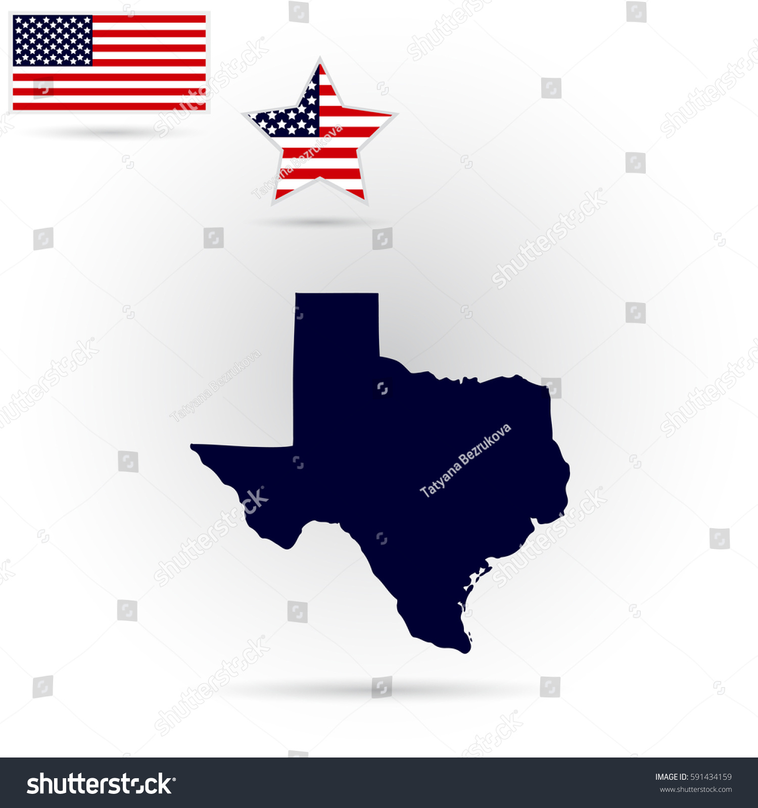 Map Us State Texas On Gray Stock Vector Shutterstock - Texas on the us map