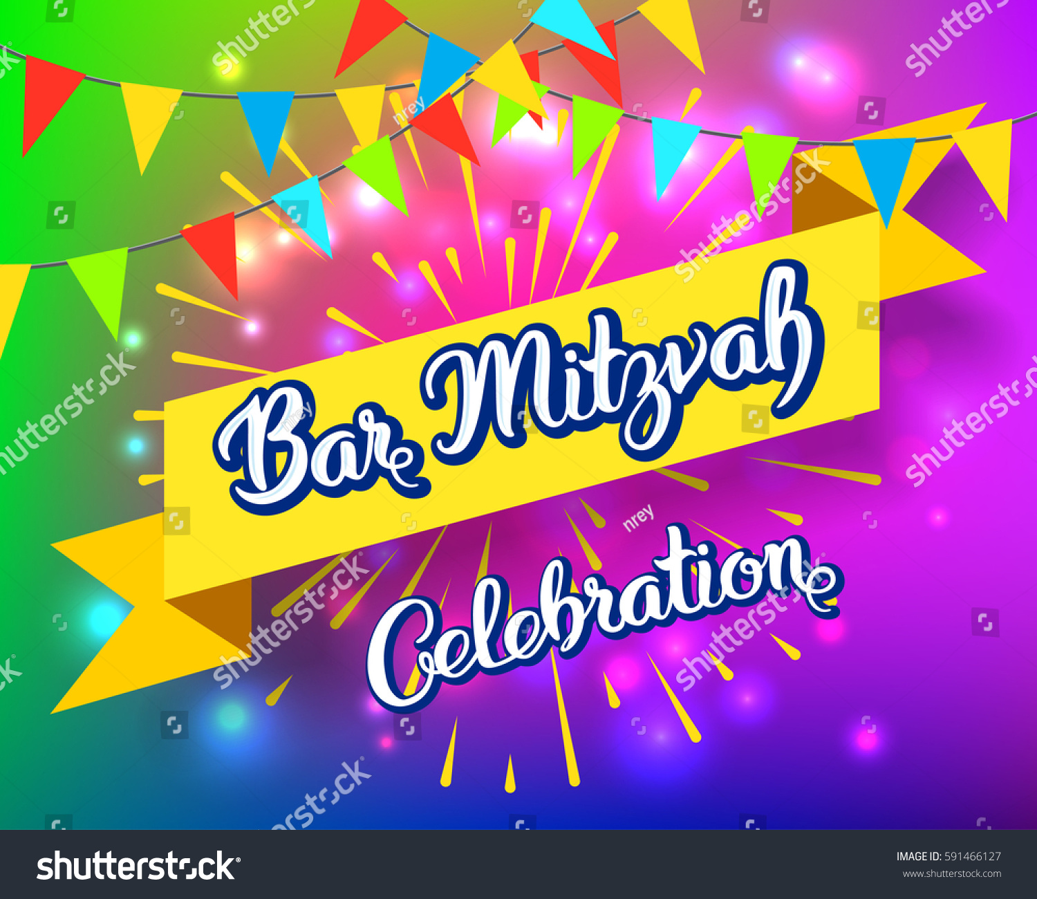 Bar mitzvah party invitation congratulation card stock vector bar mitzvah party invitation congratulation card holiday of coming of age jewish rituals kristyandbryce Image collections