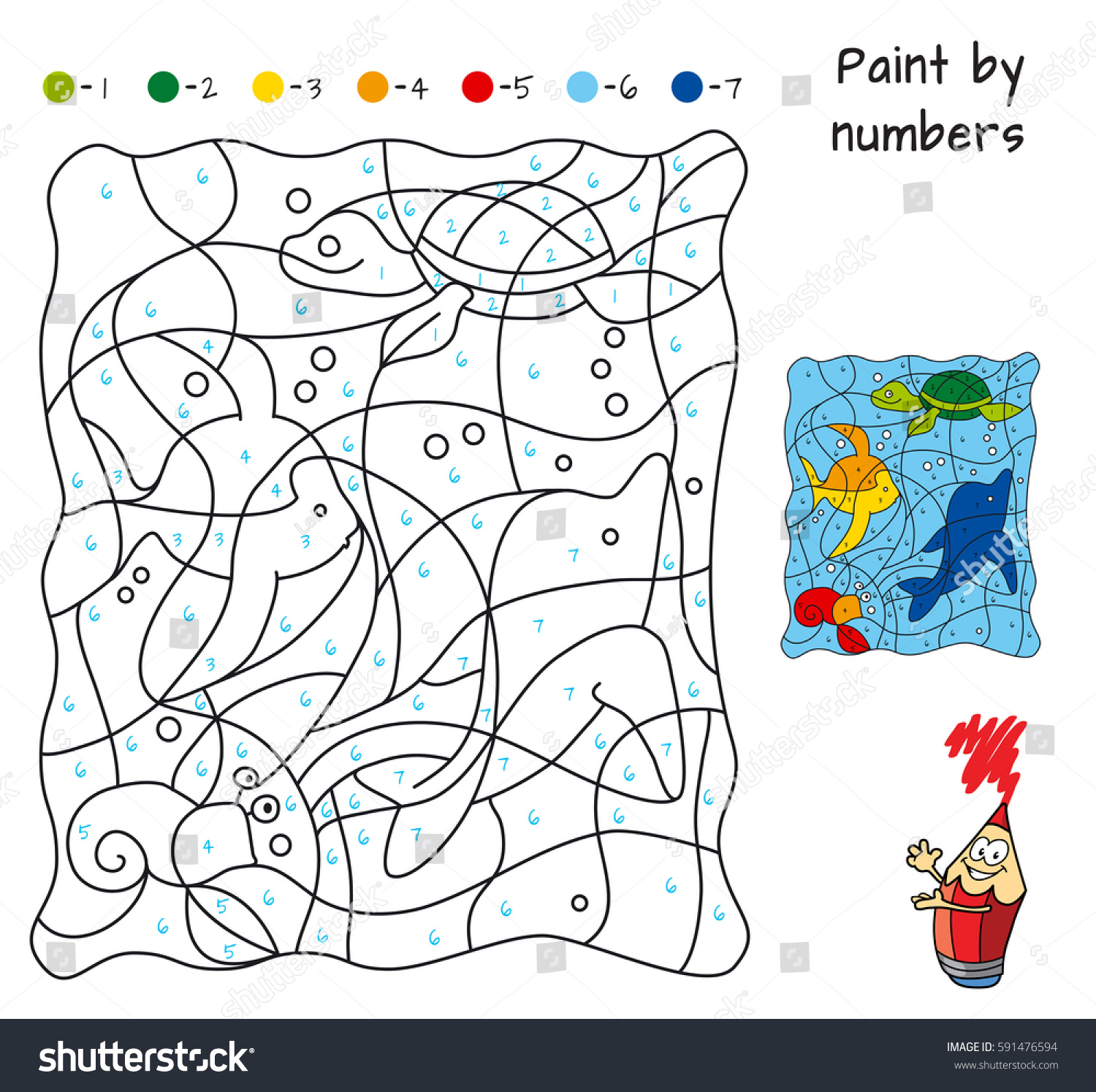 Educational Puzzle Game For Children Coloring Book